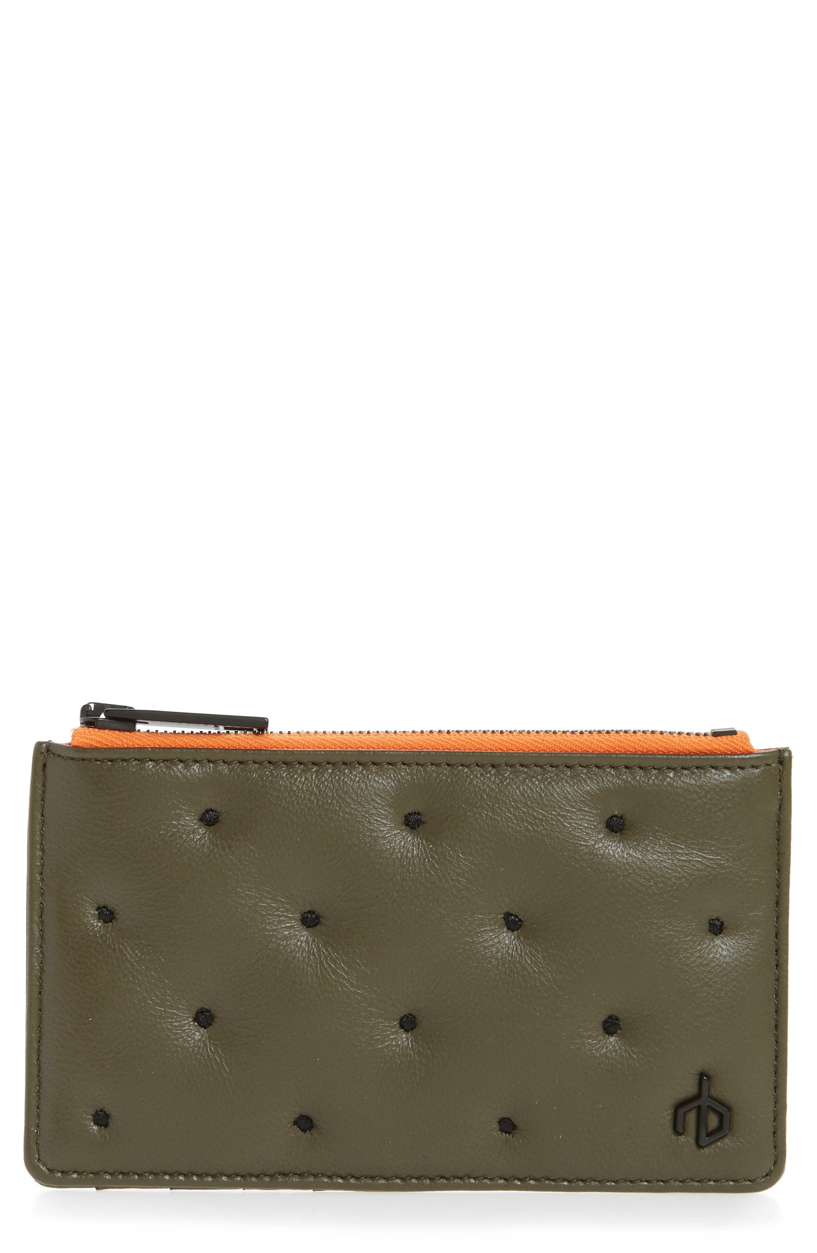 Main Image - rag & bone Dot Dash Quilted Leather Card Case