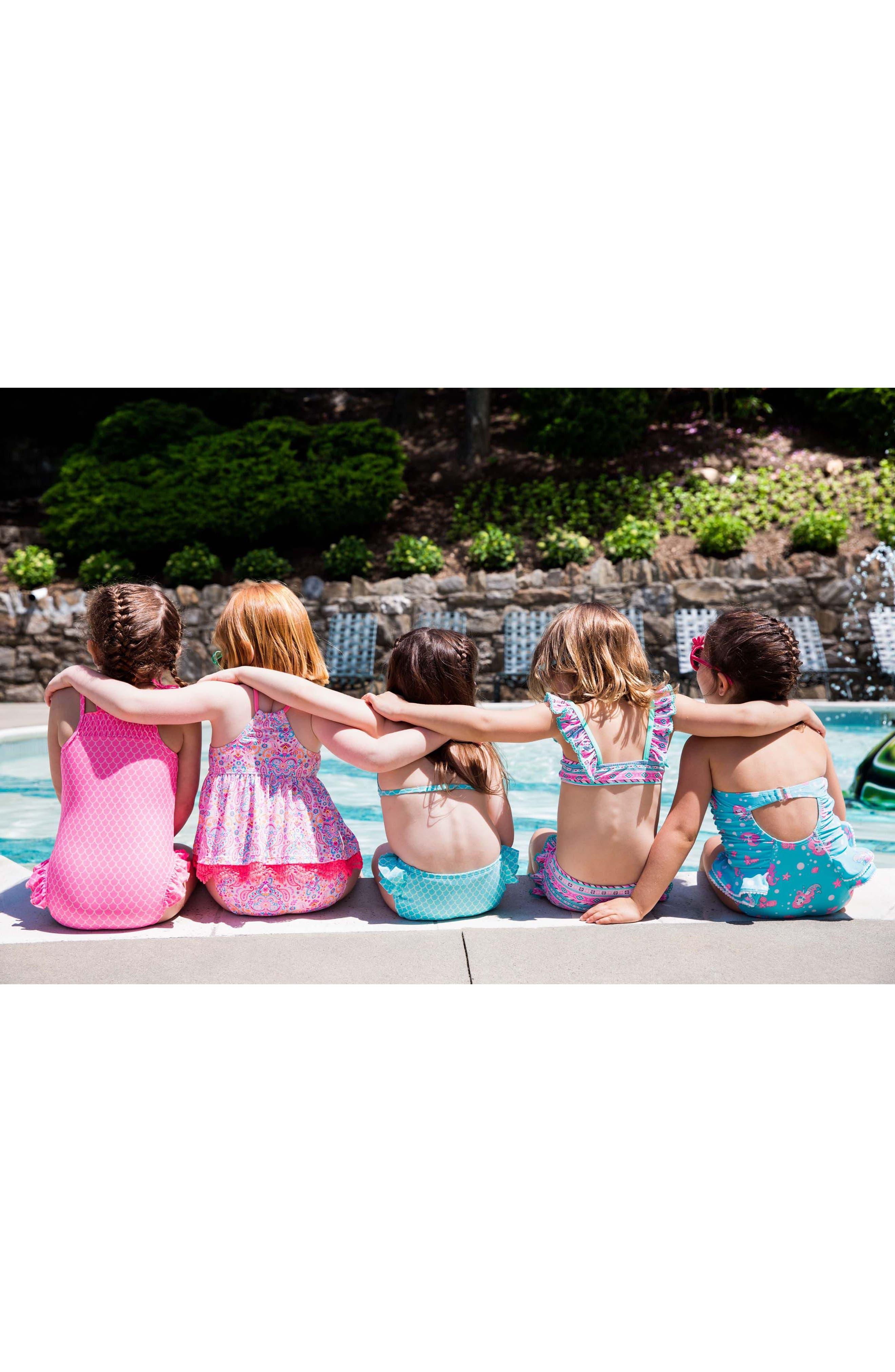 Alternate Image 3  - Hula Star Mermaid Princess One-Piece Swimsuit (Toddler Girls & Little Girls)