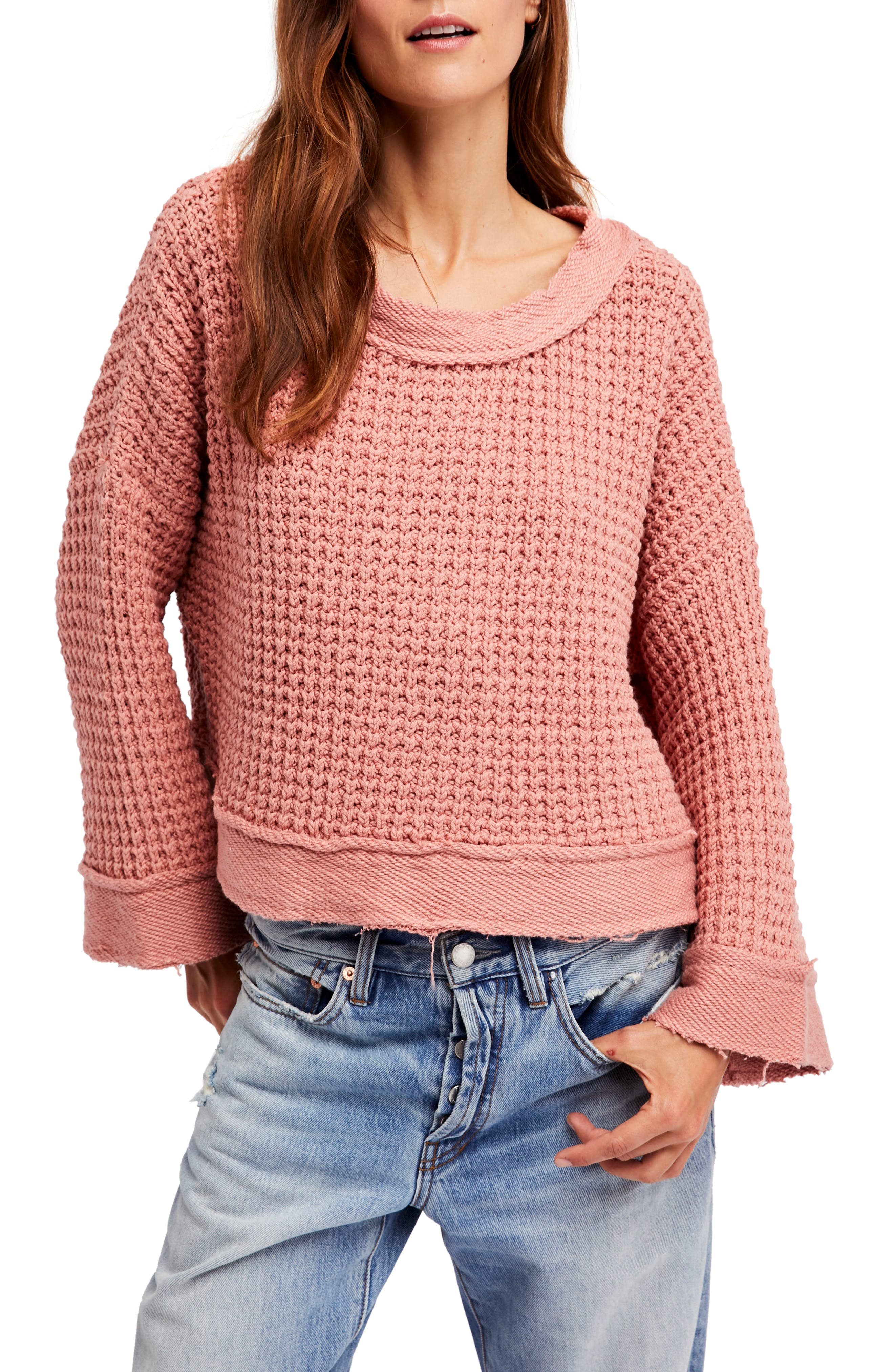 Maybe Baby Bell Sleeve Sweater,                             Main thumbnail 1, color,                             Rose