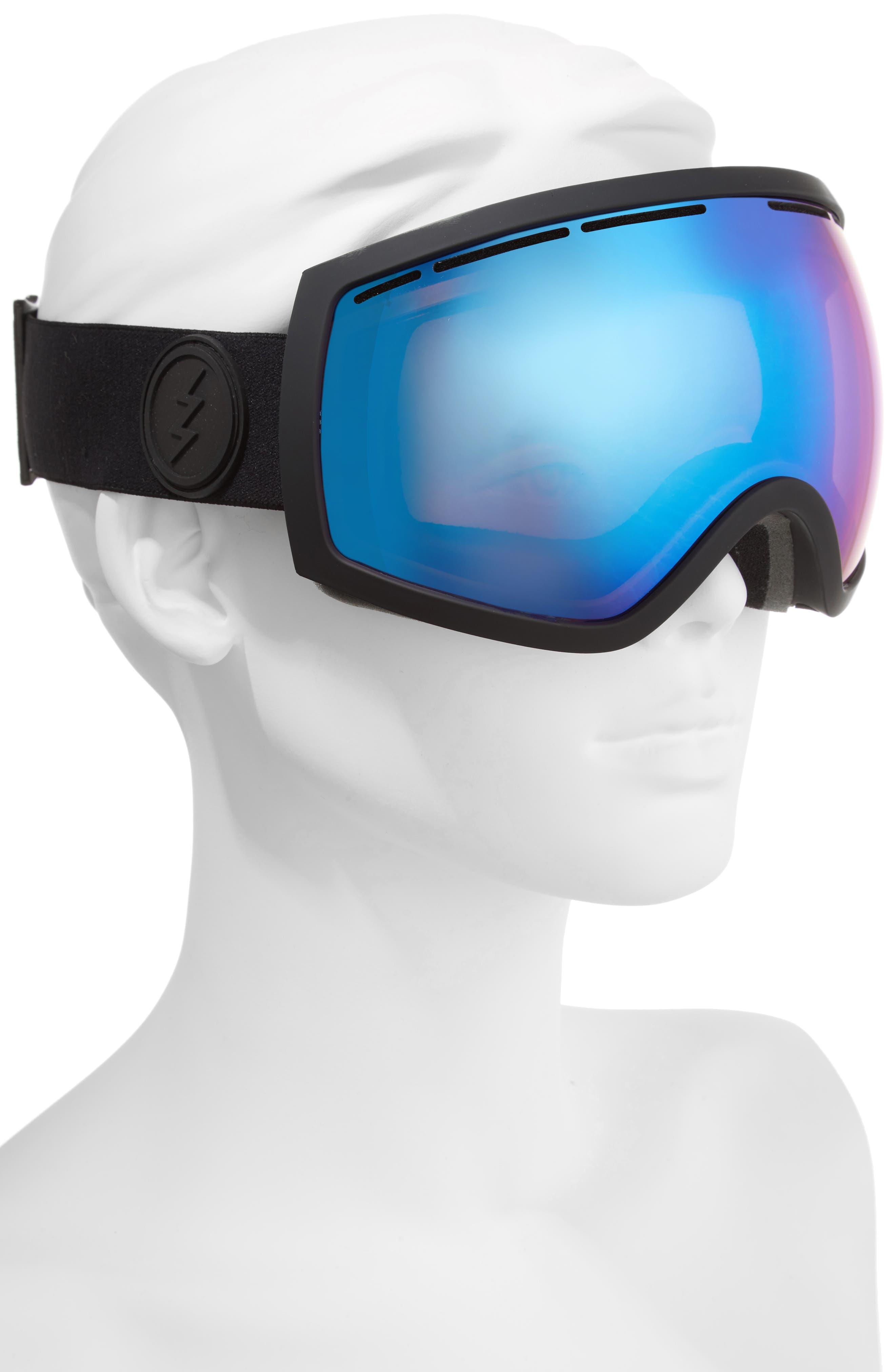 EG2 Snow Goggles,                             Alternate thumbnail 2, color,                             Matte Black/ Blue Chrome
