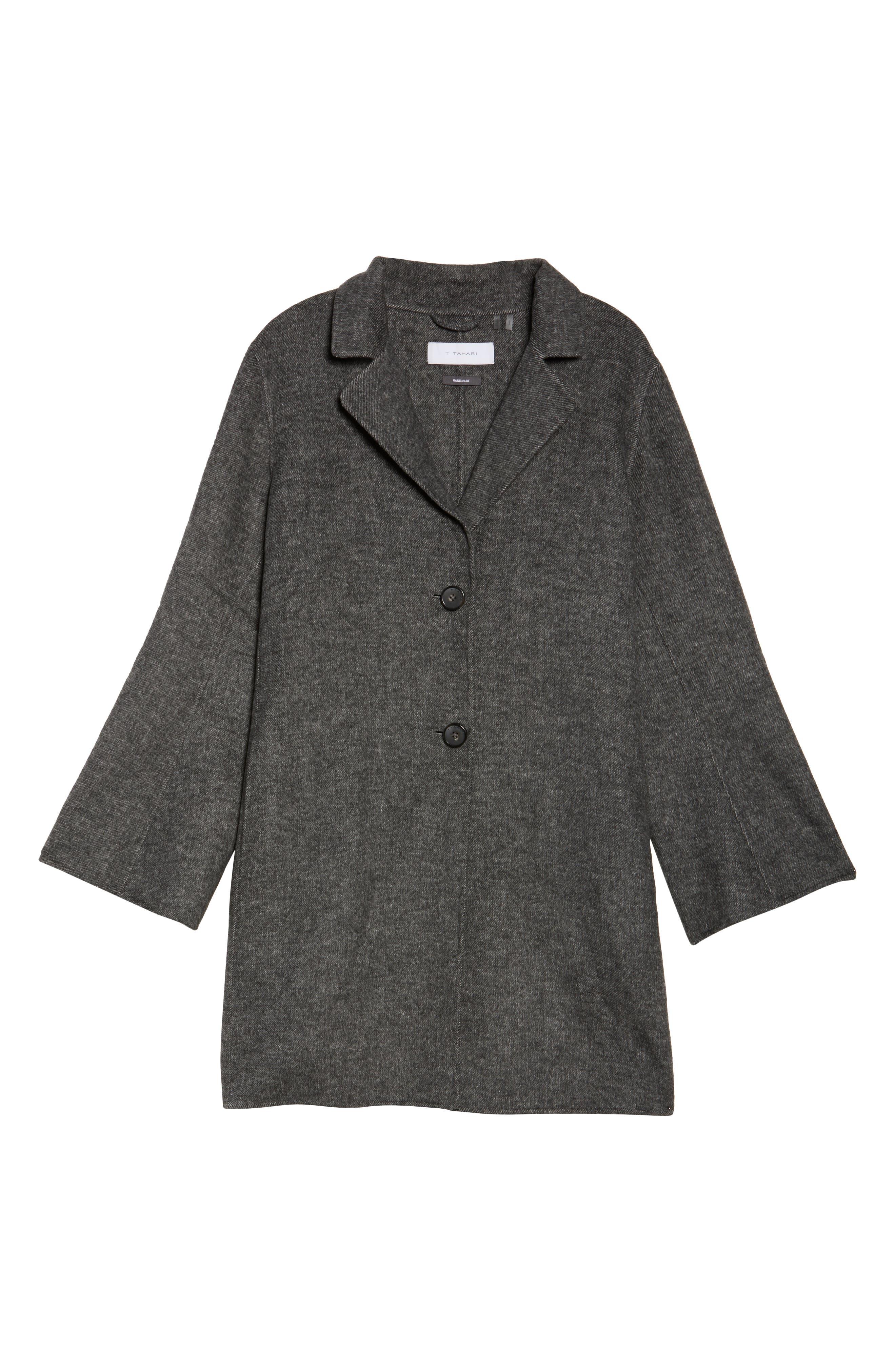 Alternate Image 5  - Tahari Jayden Car Coat (Plus Size)