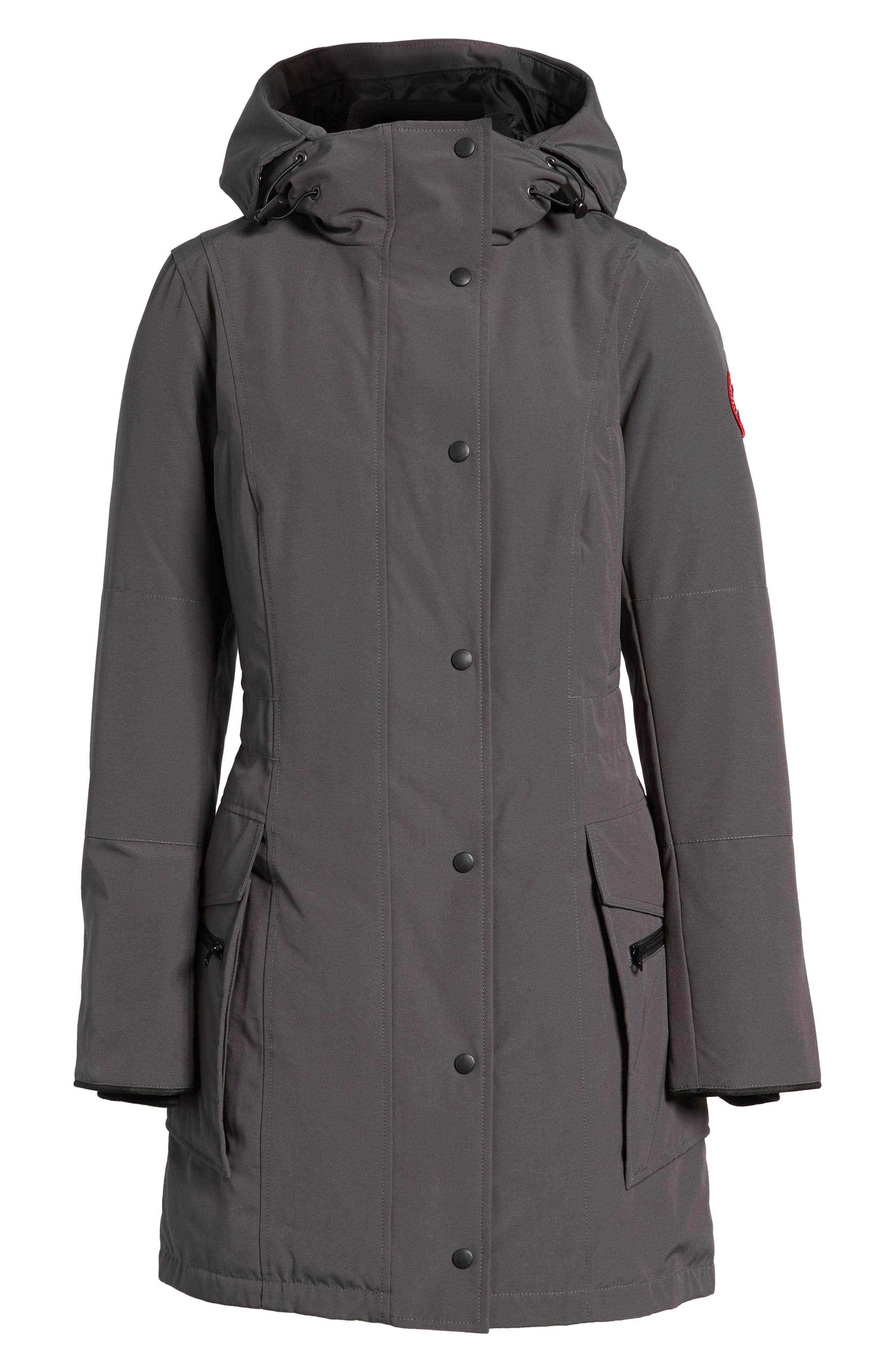 Kinley Insulated Parka,                             Alternate thumbnail 7, color,                             Graphite