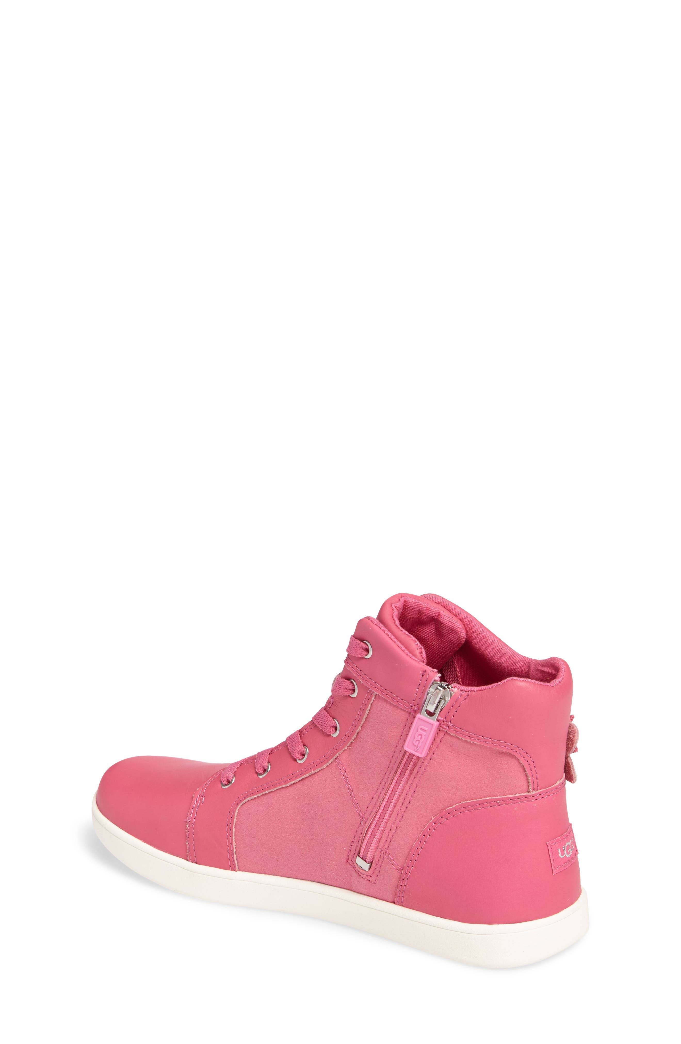 Alternate Image 2  - UGG® Schyler Petal Embellished High Top Sneaker (Little Kid & Big Kid)