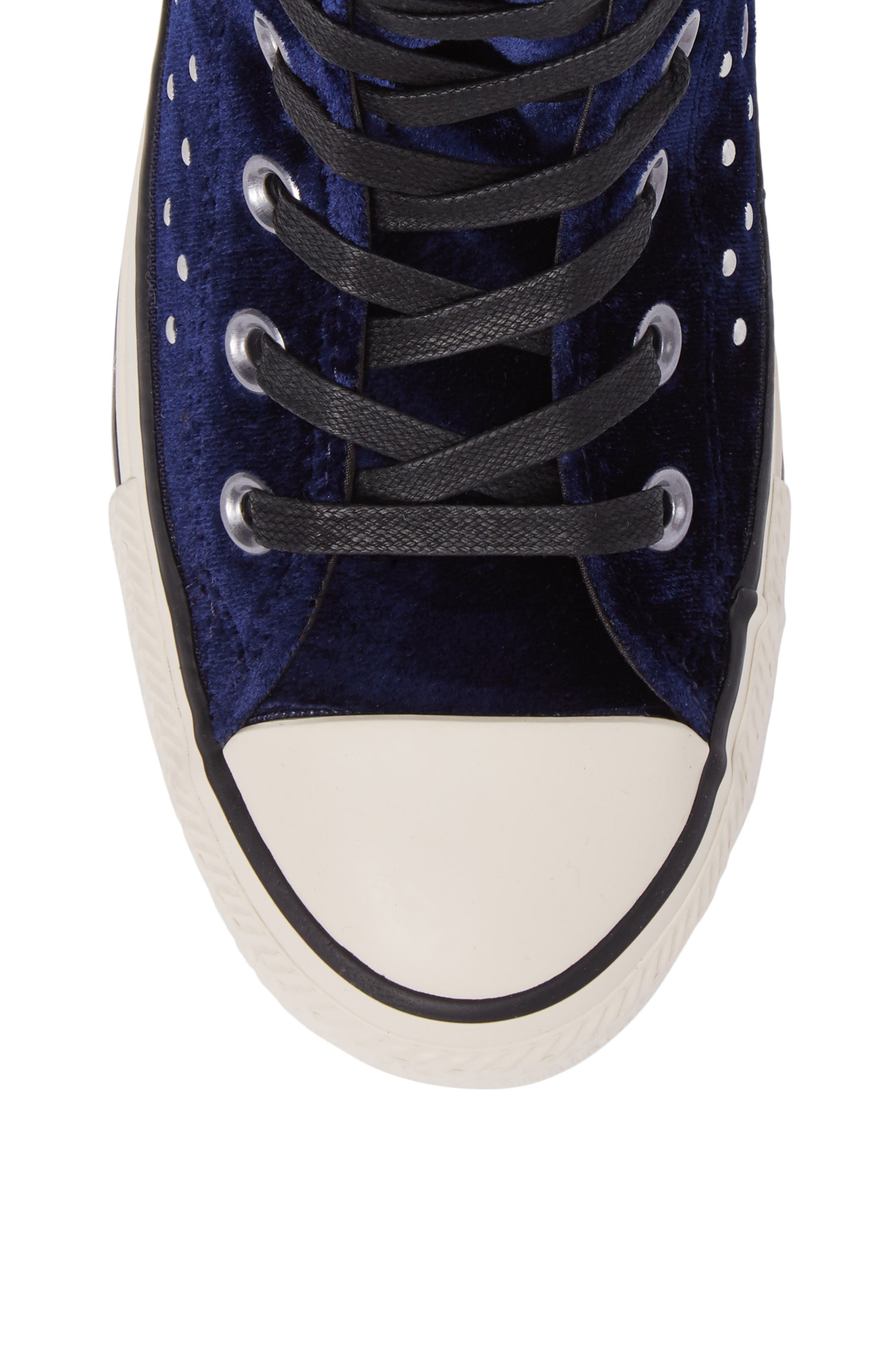 Chuck Taylor<sup>®</sup> All Star<sup>®</sup> Studded High Top Sneakers,                             Alternate thumbnail 5, color,                             Eclipse Velvet