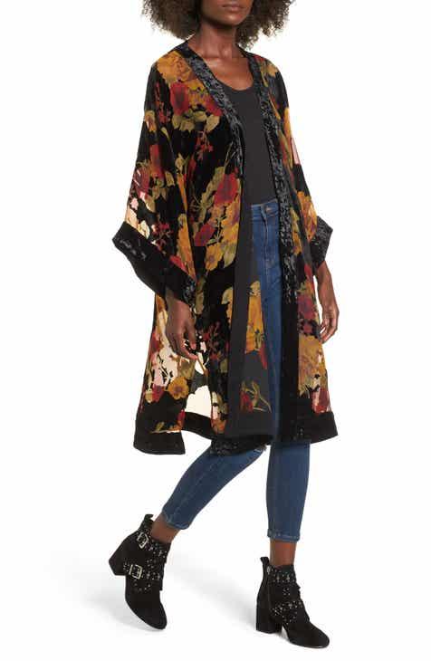66b47ee53 Band of Gypsies Velvet Burnout Kimono