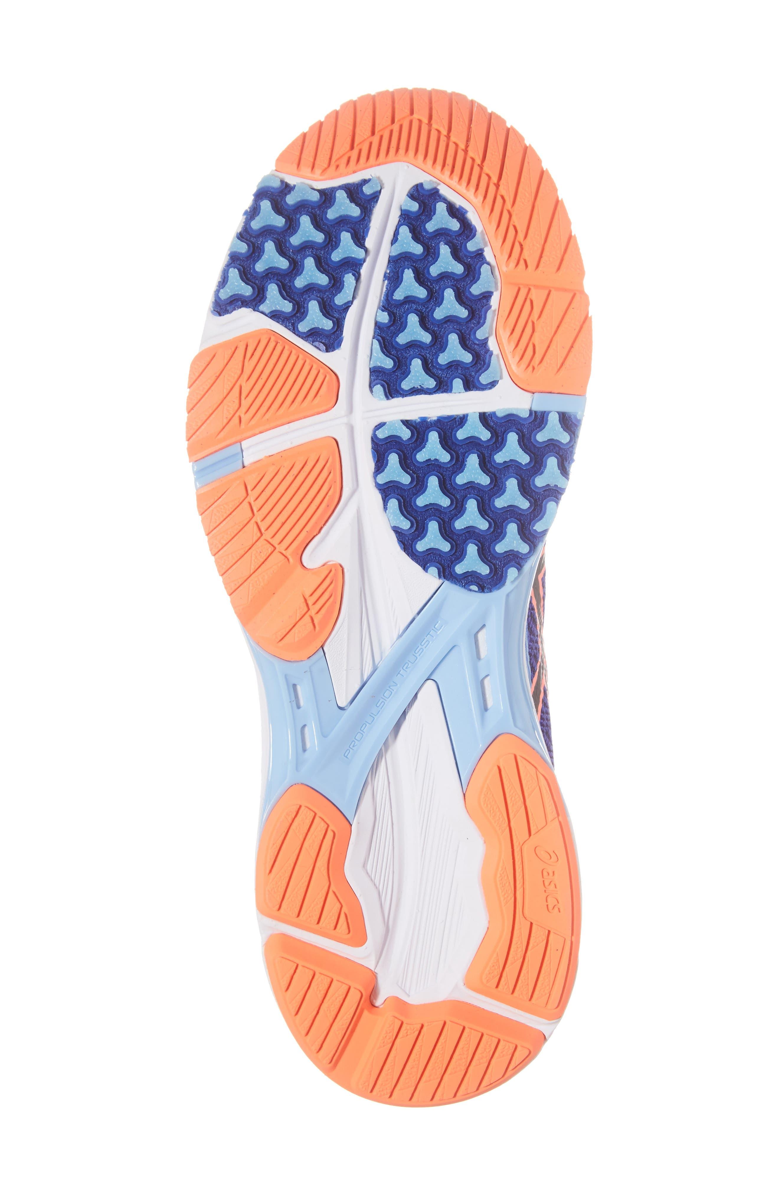 GEL-DS Trainer 22 Running Shoe,                             Alternate thumbnail 6, color,                             Blue Purple/ Black/ Coral