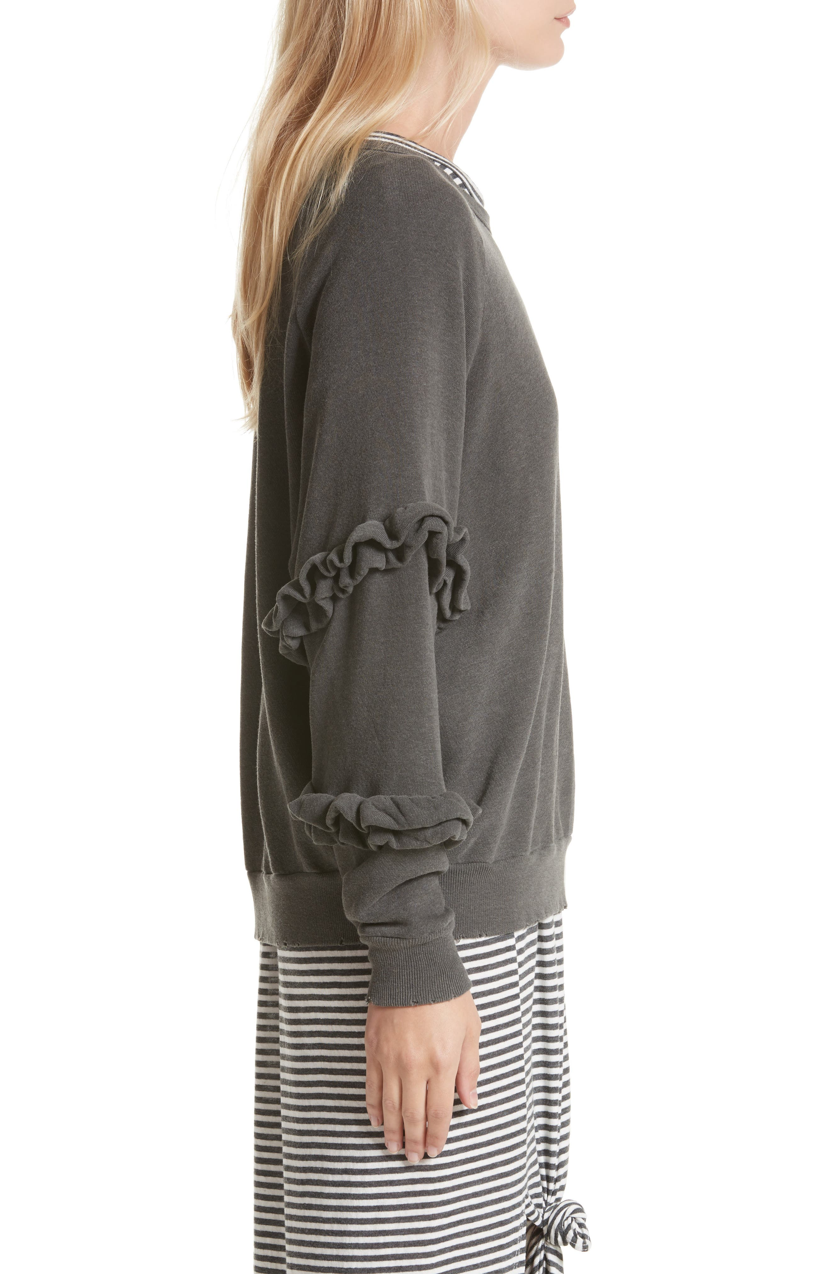 Alternate Image 4  - THE GREAT. The Frill Sleeve Sweatshirt