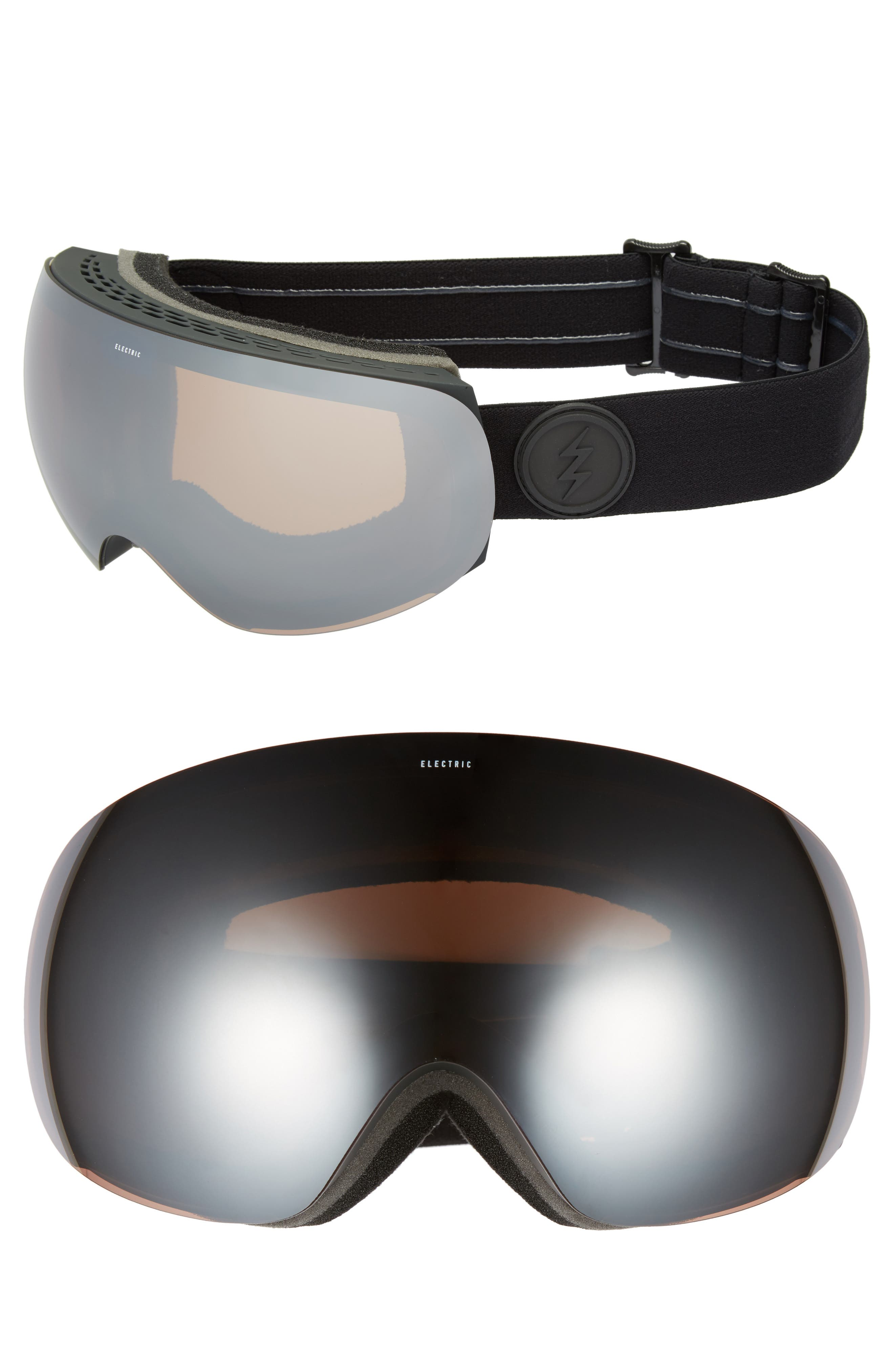 EG3 Snow Goggles,                             Main thumbnail 1, color,                             Matte Black/ Silver Chrome