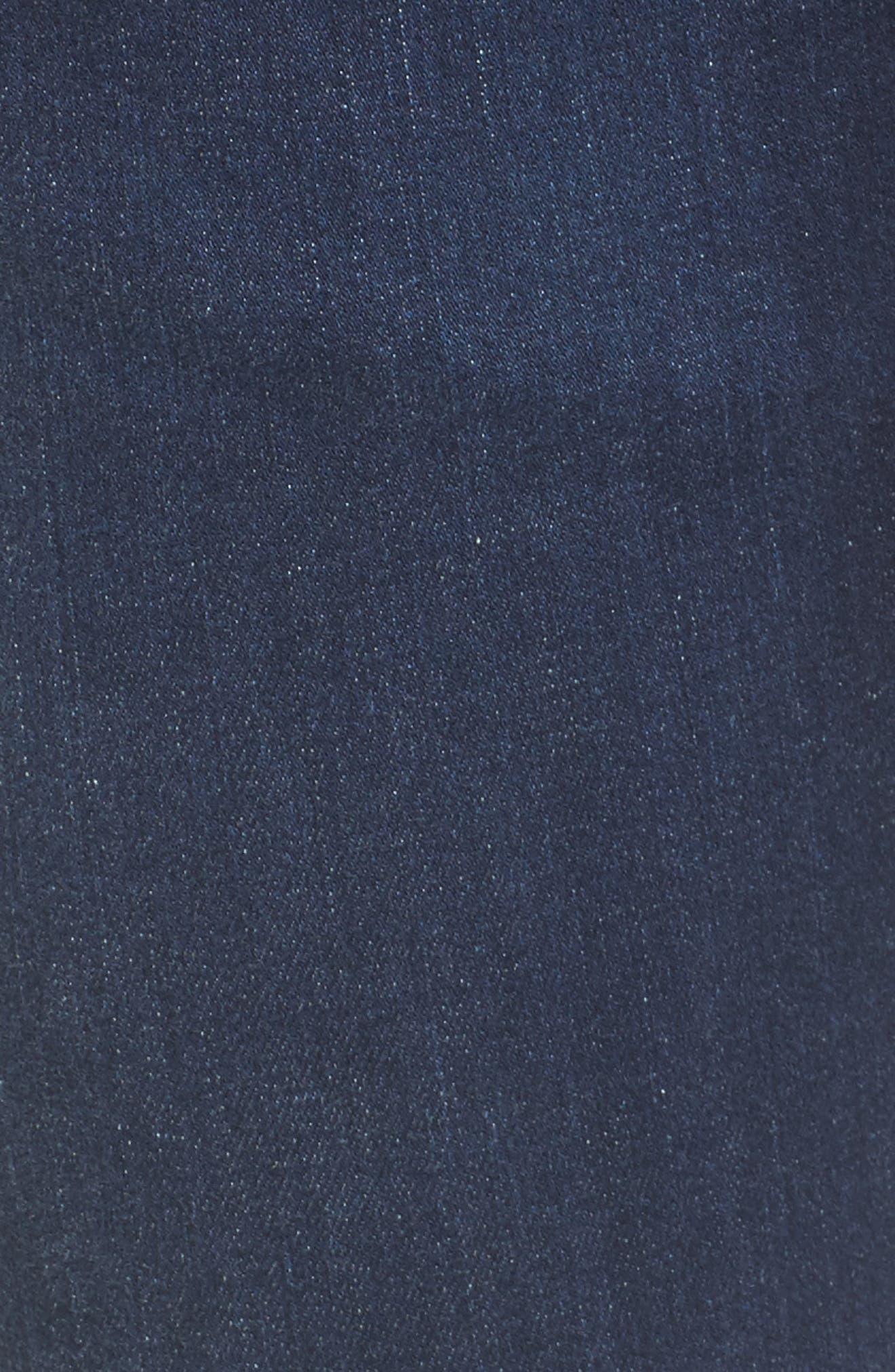 Super Stretch Maternity Skinny Jeans,                             Alternate thumbnail 5, color,                             Indigo