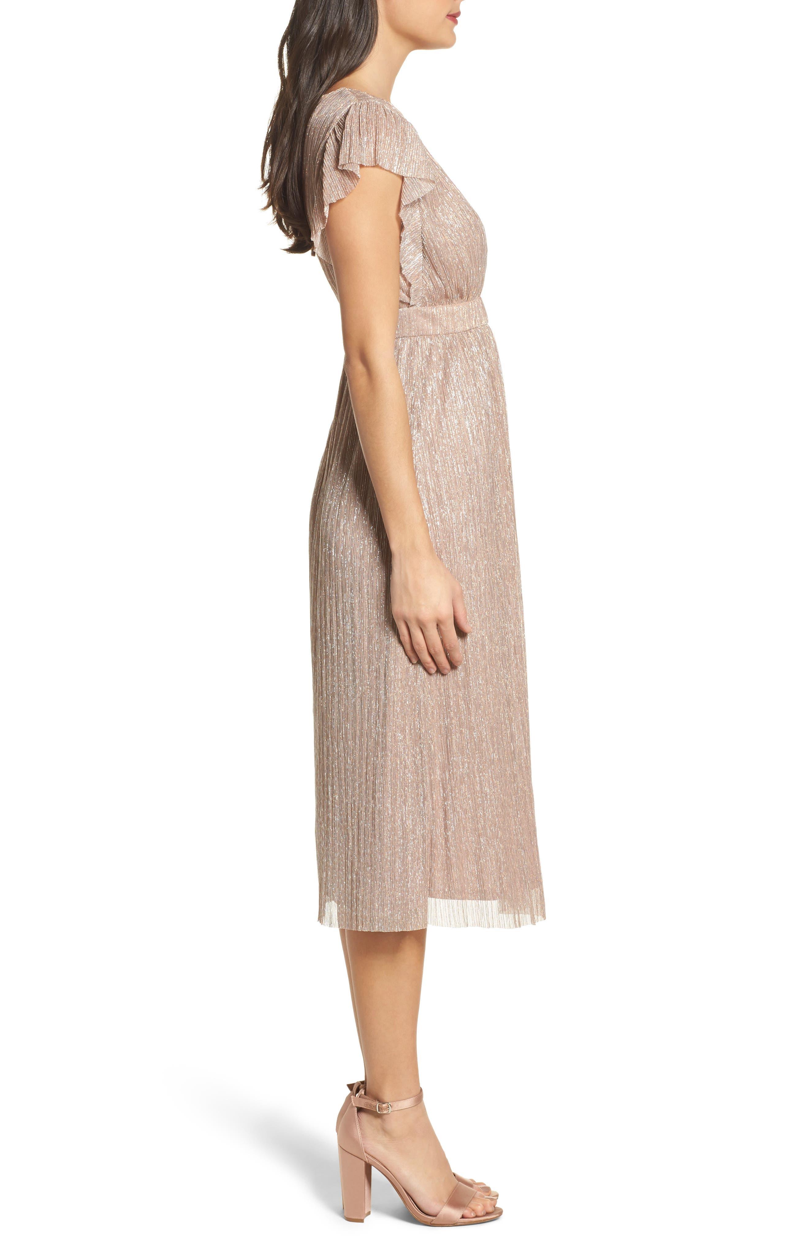 Alternate Image 3  - Chelsea28 Metallic Midi Dress