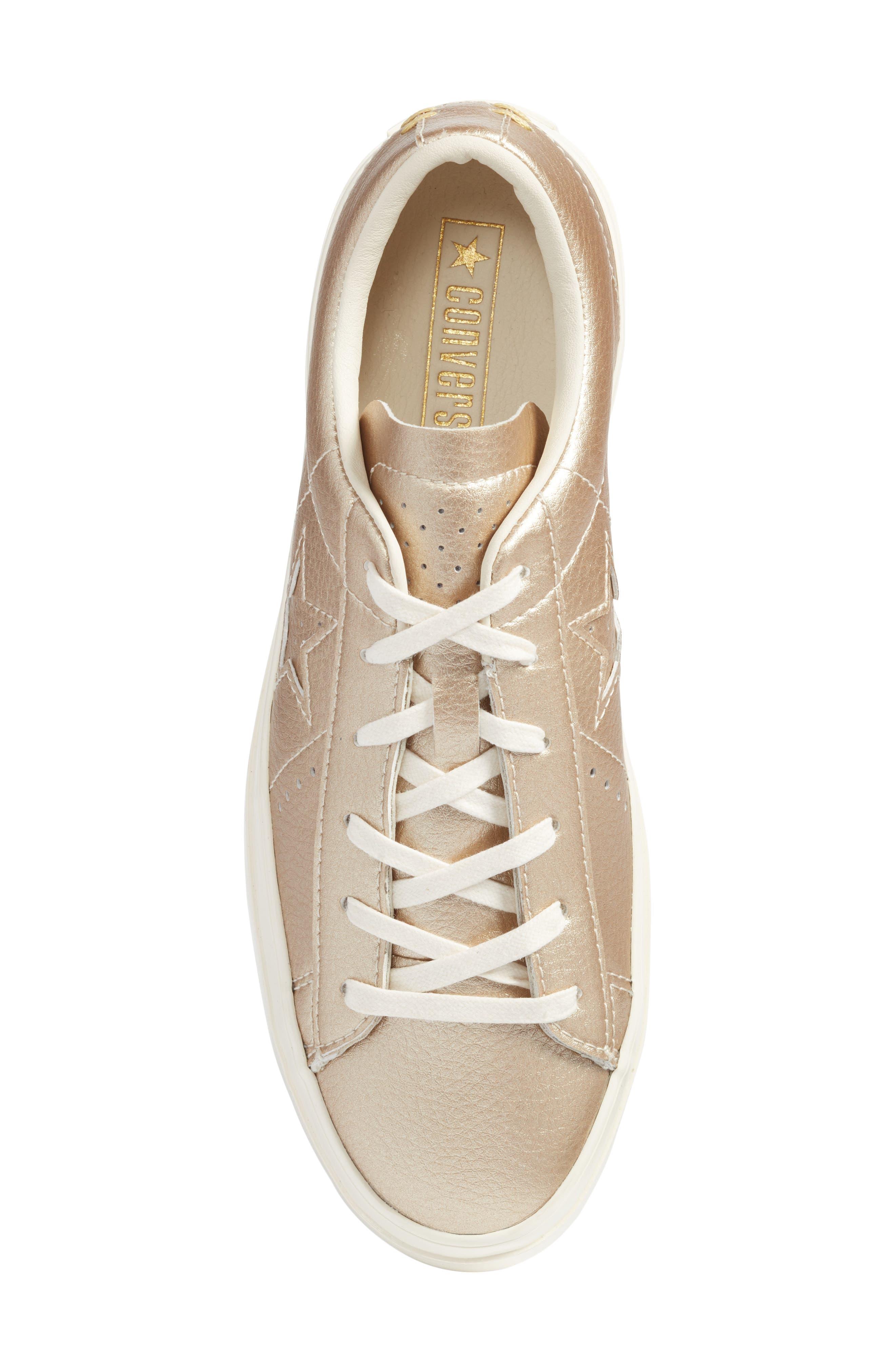 Alternate Image 5  - Converse Chuck Taylor® All Star® One Star Metallic Platform Sneaker (Women)