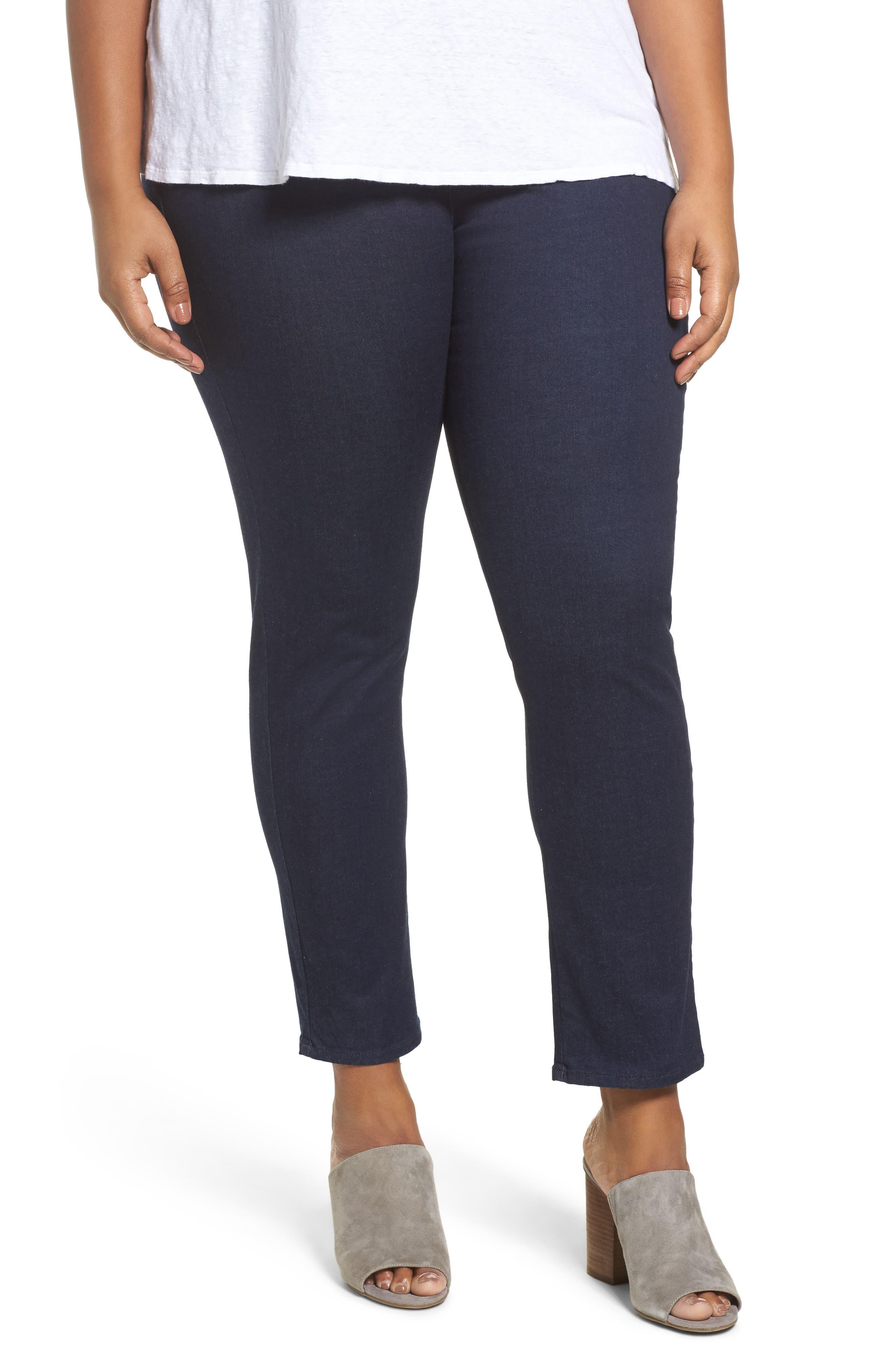 Main Image - Foxcroft Nina Slimming Pants (Plus Size)