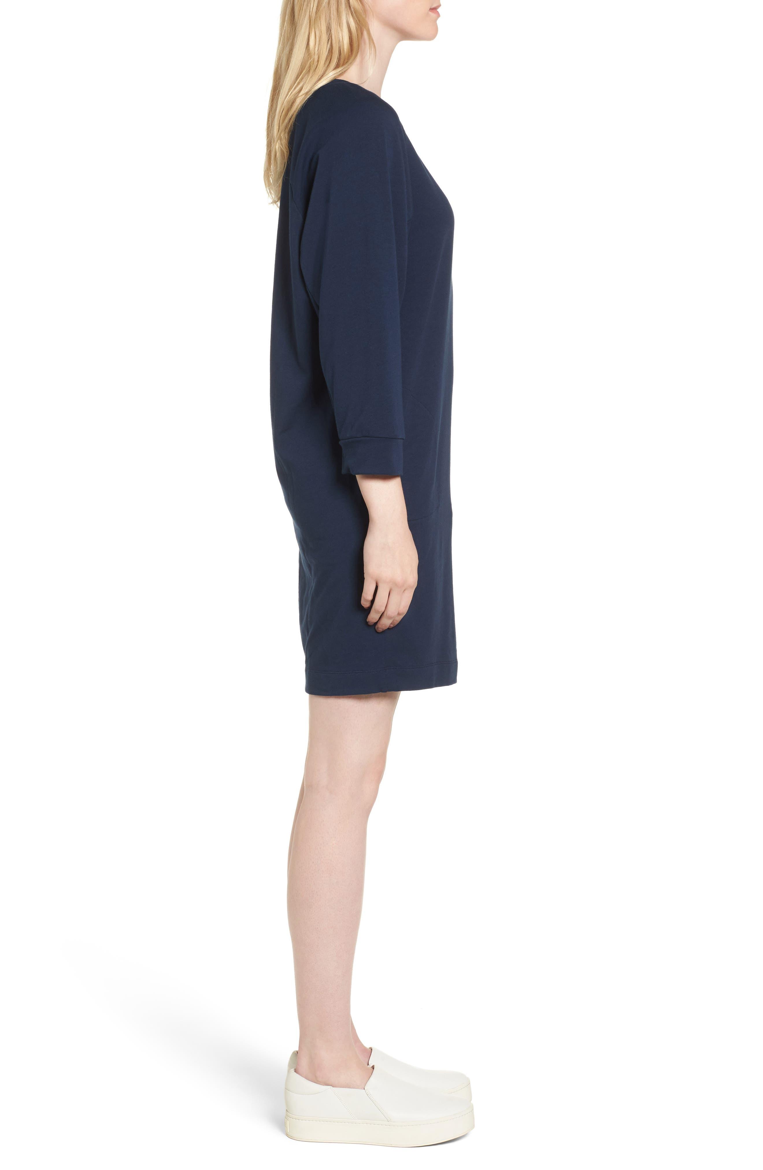 Nadja Dolman Sleeve Dress,                             Alternate thumbnail 4, color,                             Navy