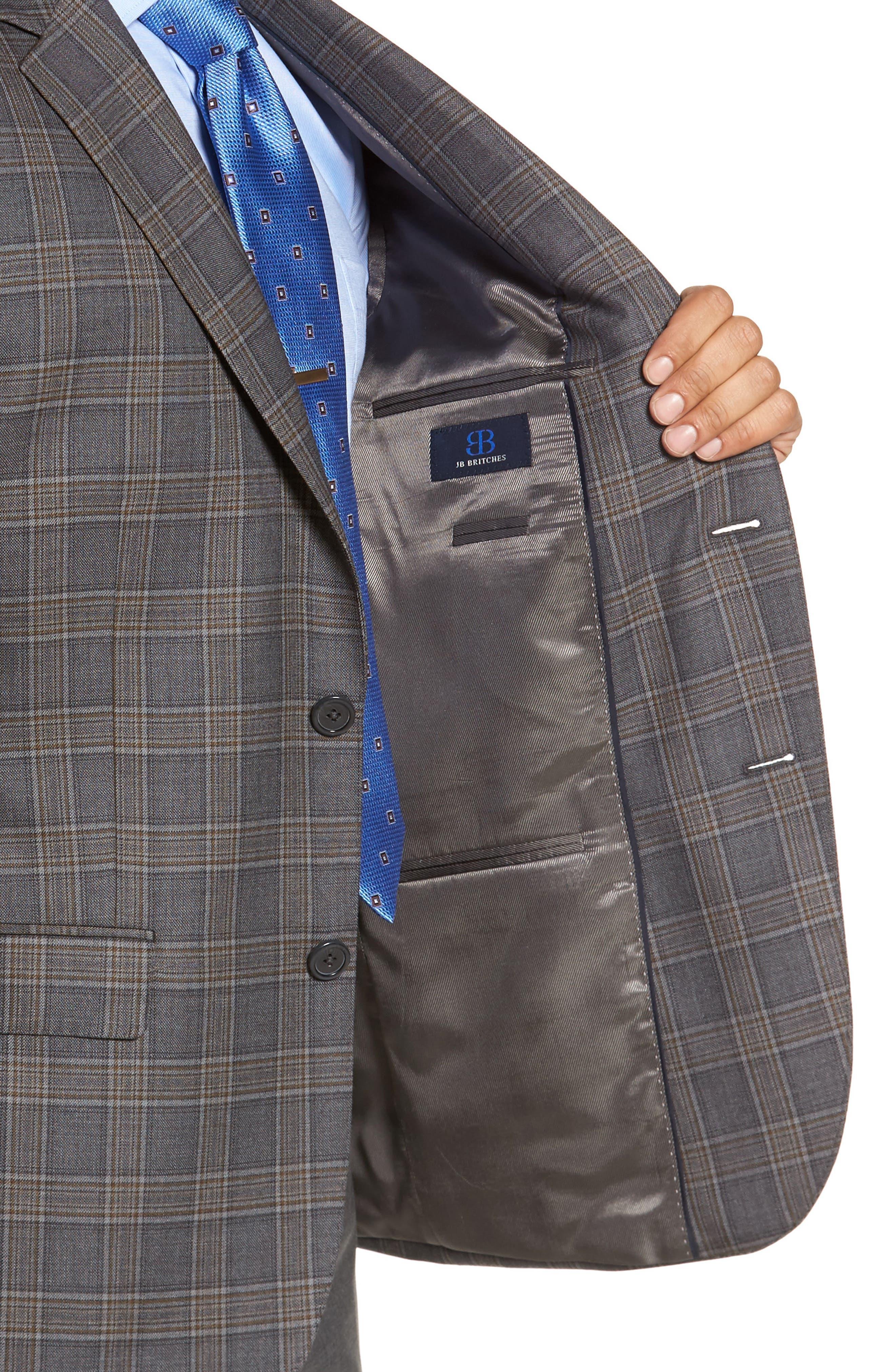 Alternate Image 4  - JB Britches Classic Fit Plaid Wool Sport Coat