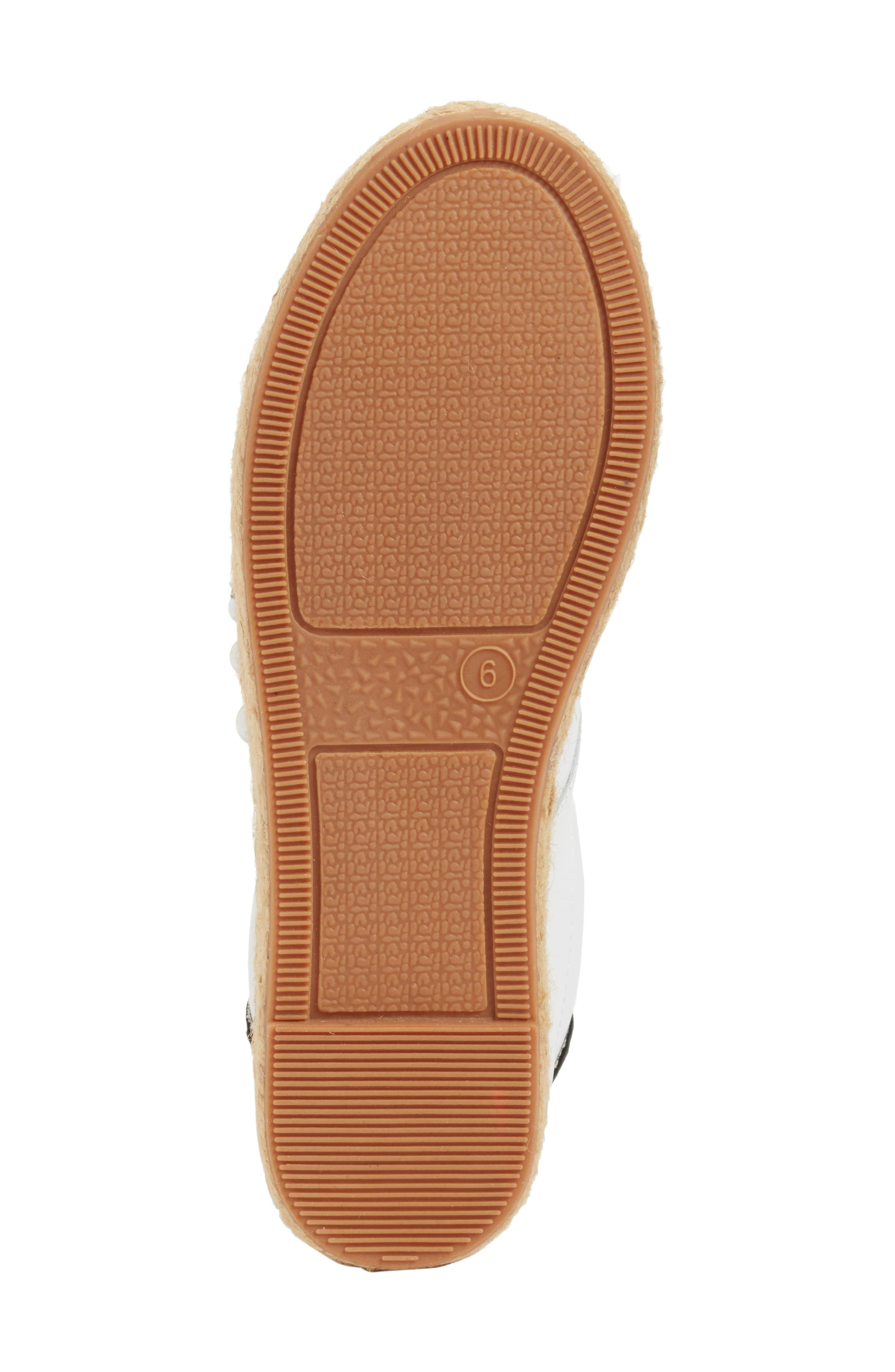 Marge Espadrille Platform Sneaker,                             Alternate thumbnail 6, color,                             White/ Navy Leather