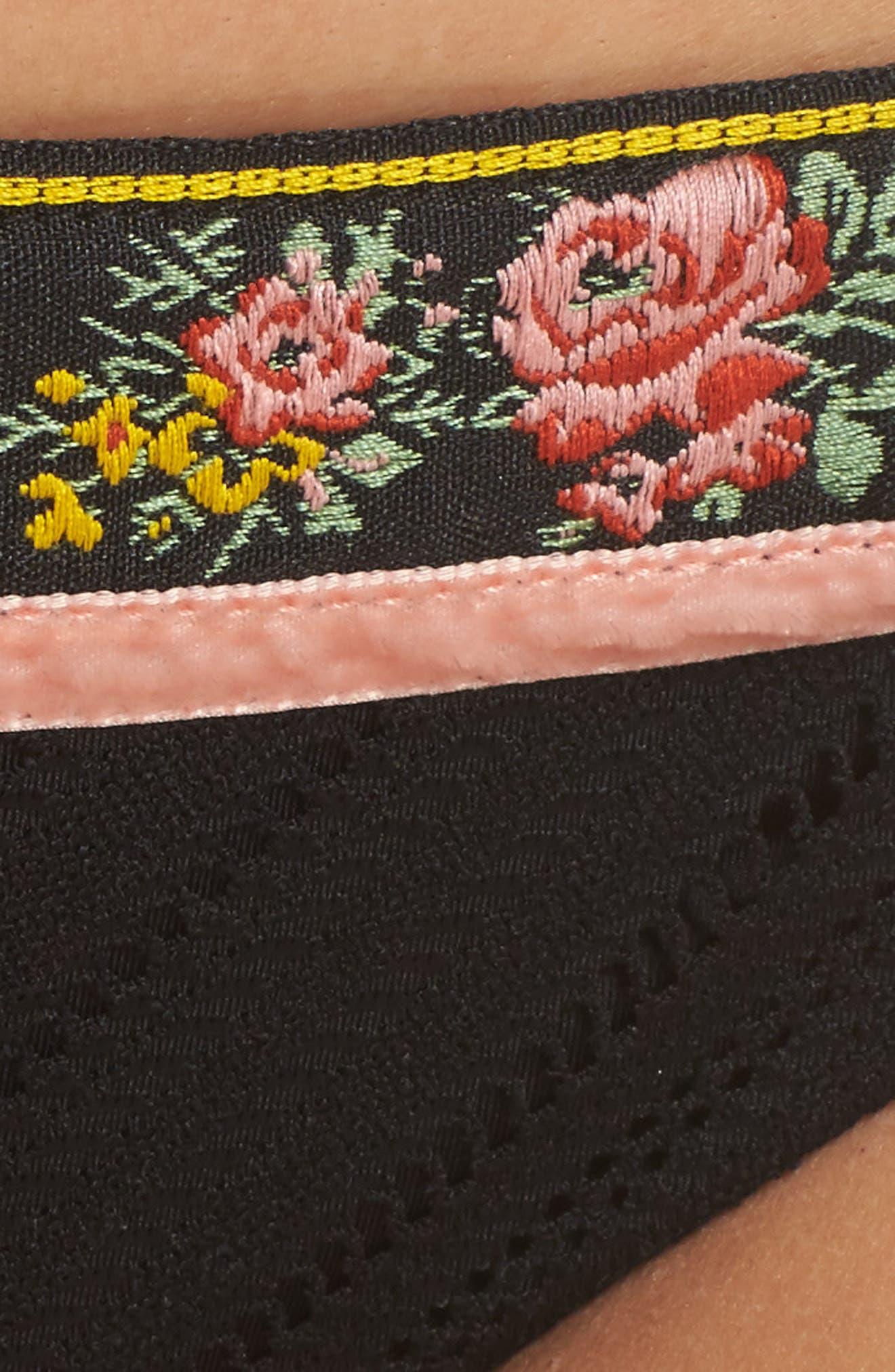 Fortune Teller Bikini Bottoms,                             Alternate thumbnail 5, color,                             Black