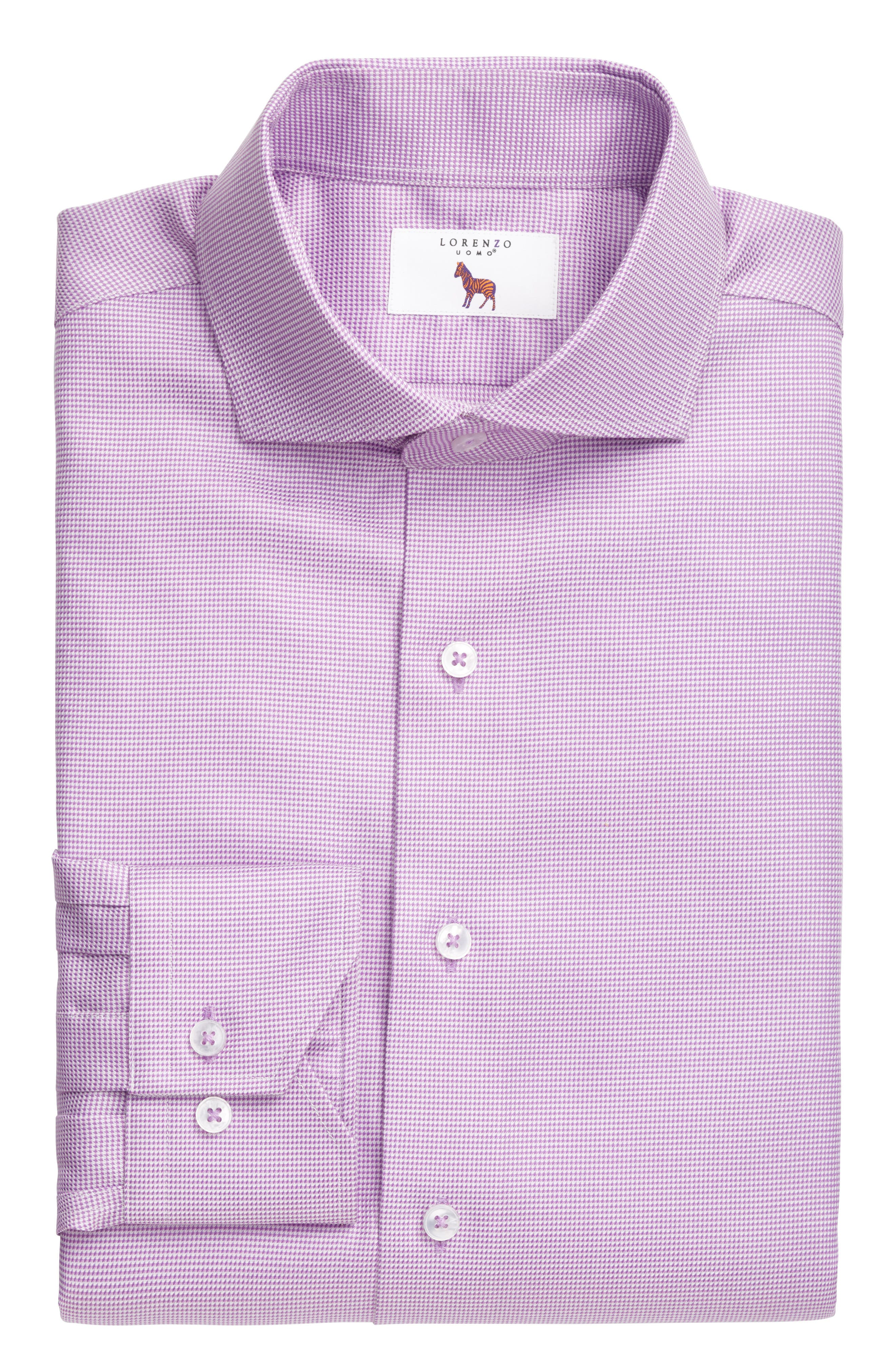 Main Image - Lorenzo Uomo Trim Fit Houndstooth Dress Shirt