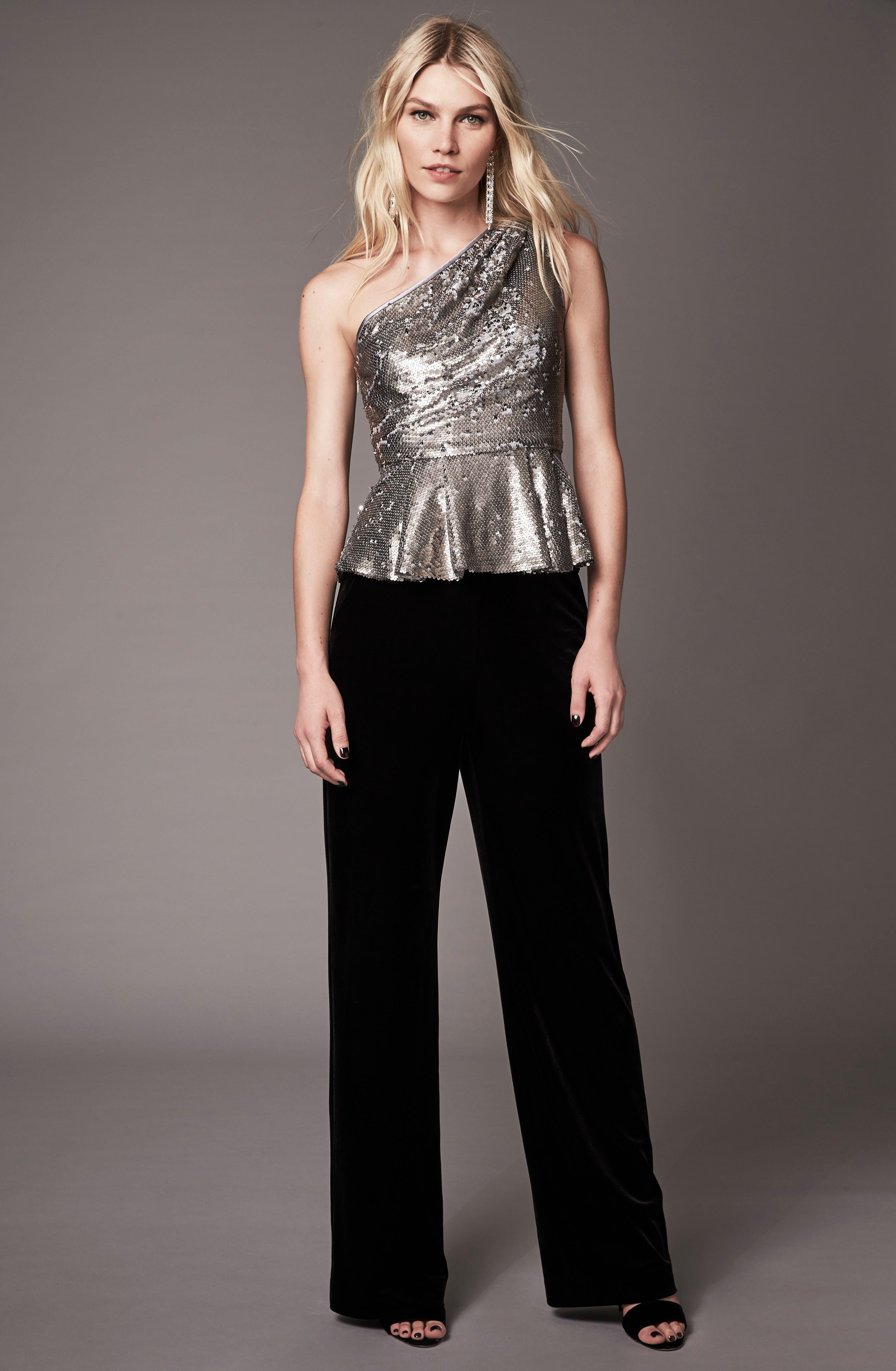 Alternate Image 9  - Eliza J Velvet Trousers