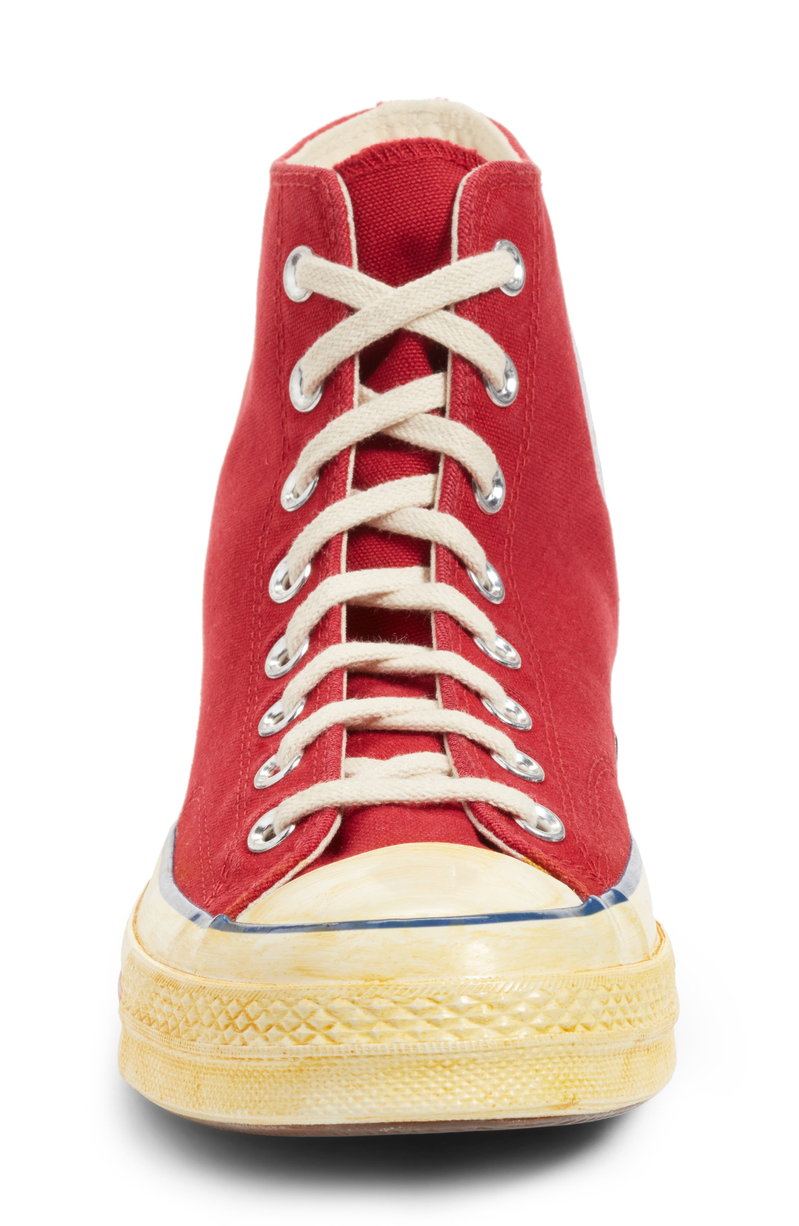 Chuck Taylor<sup>®</sup> All Star<sup>®</sup> 70 High Top Sneaker,                             Alternate thumbnail 5, color,                             Red