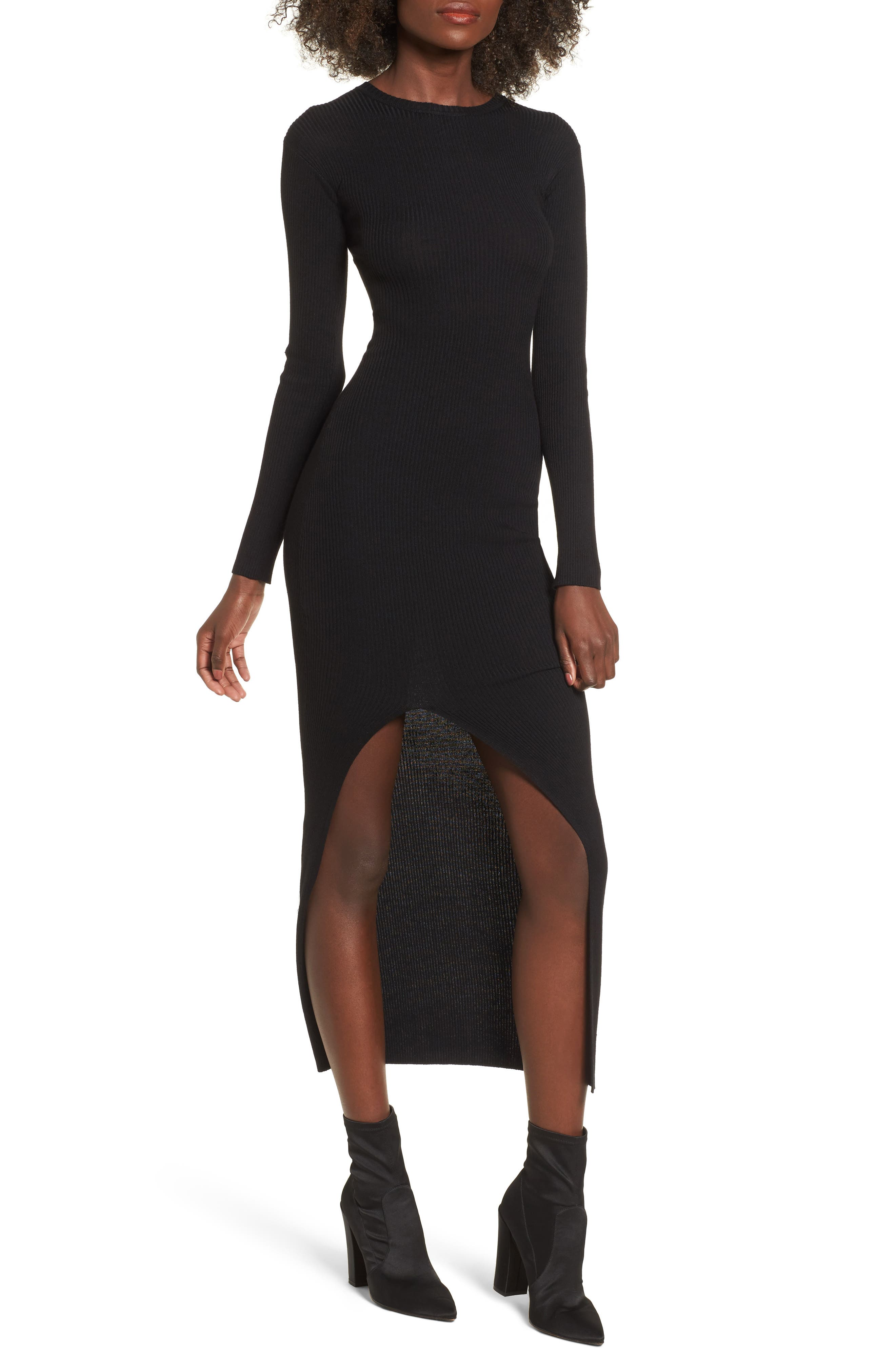 Lira Clothing Monaco Rib Knit Cutaway Dress