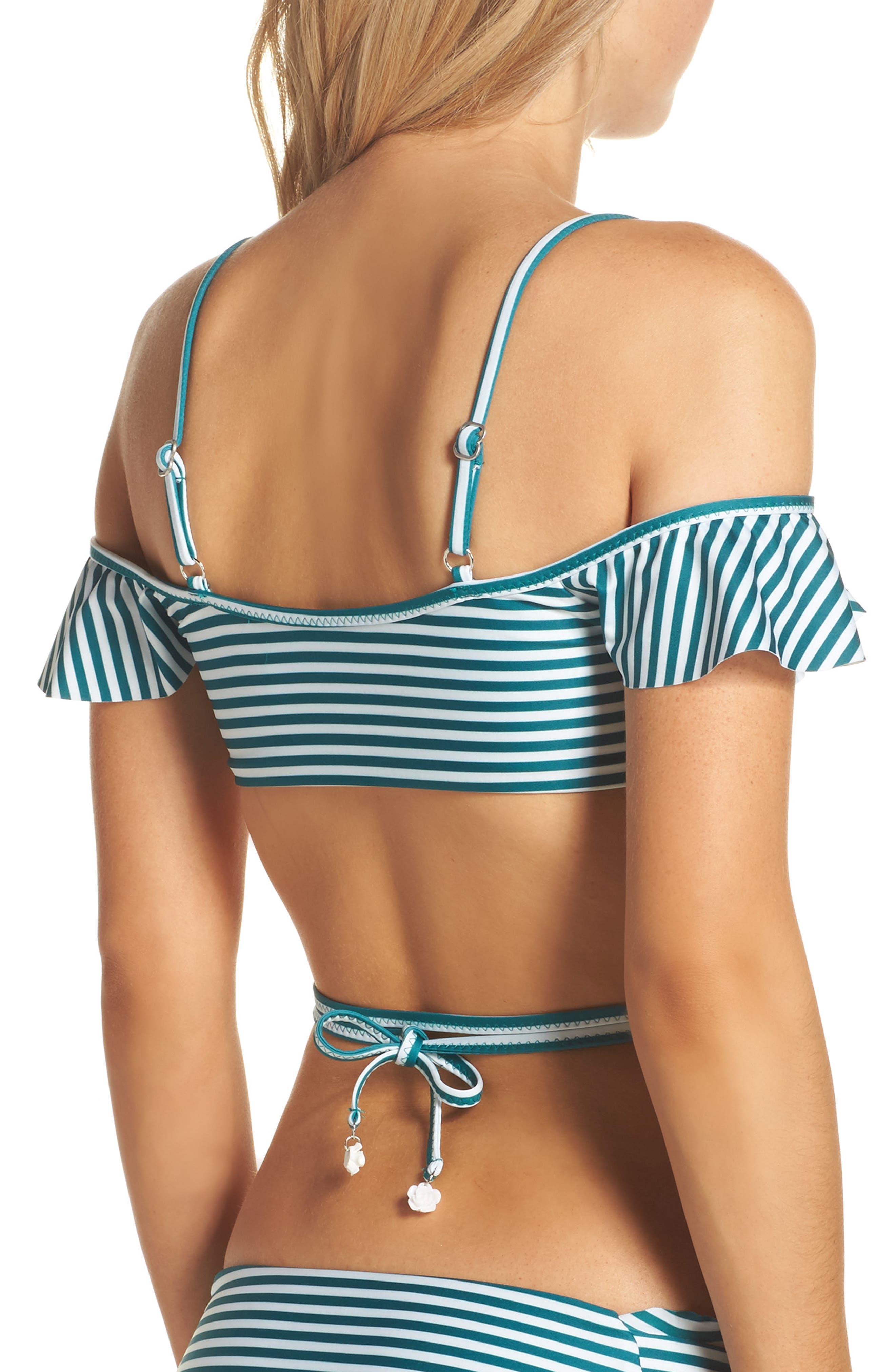 Avalon Wrap Bikini Top,                             Alternate thumbnail 2, color,                             Black/ White