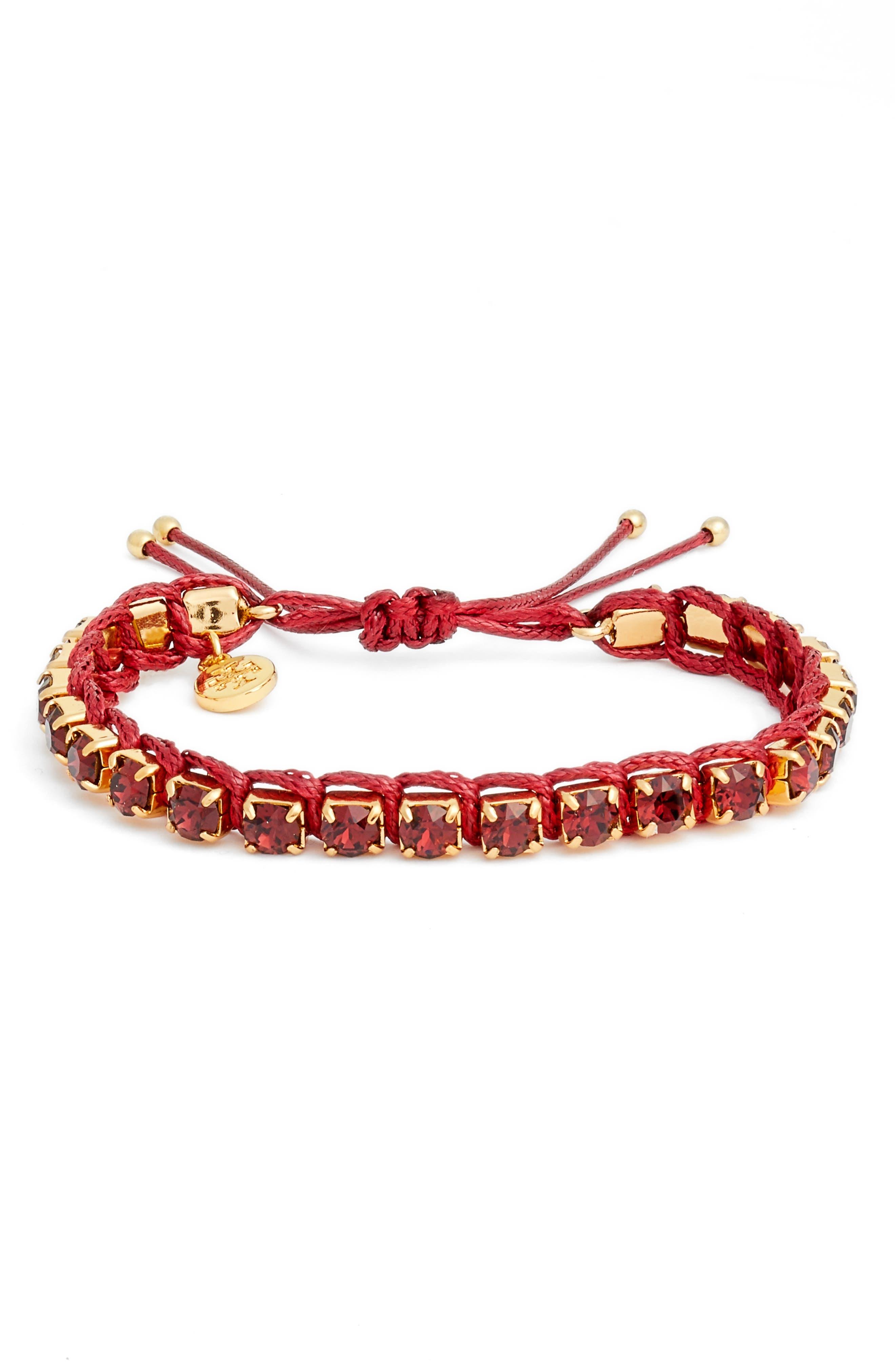 Friendship Bracelet,                         Main,                         color, Burgundy/ Tory Gold