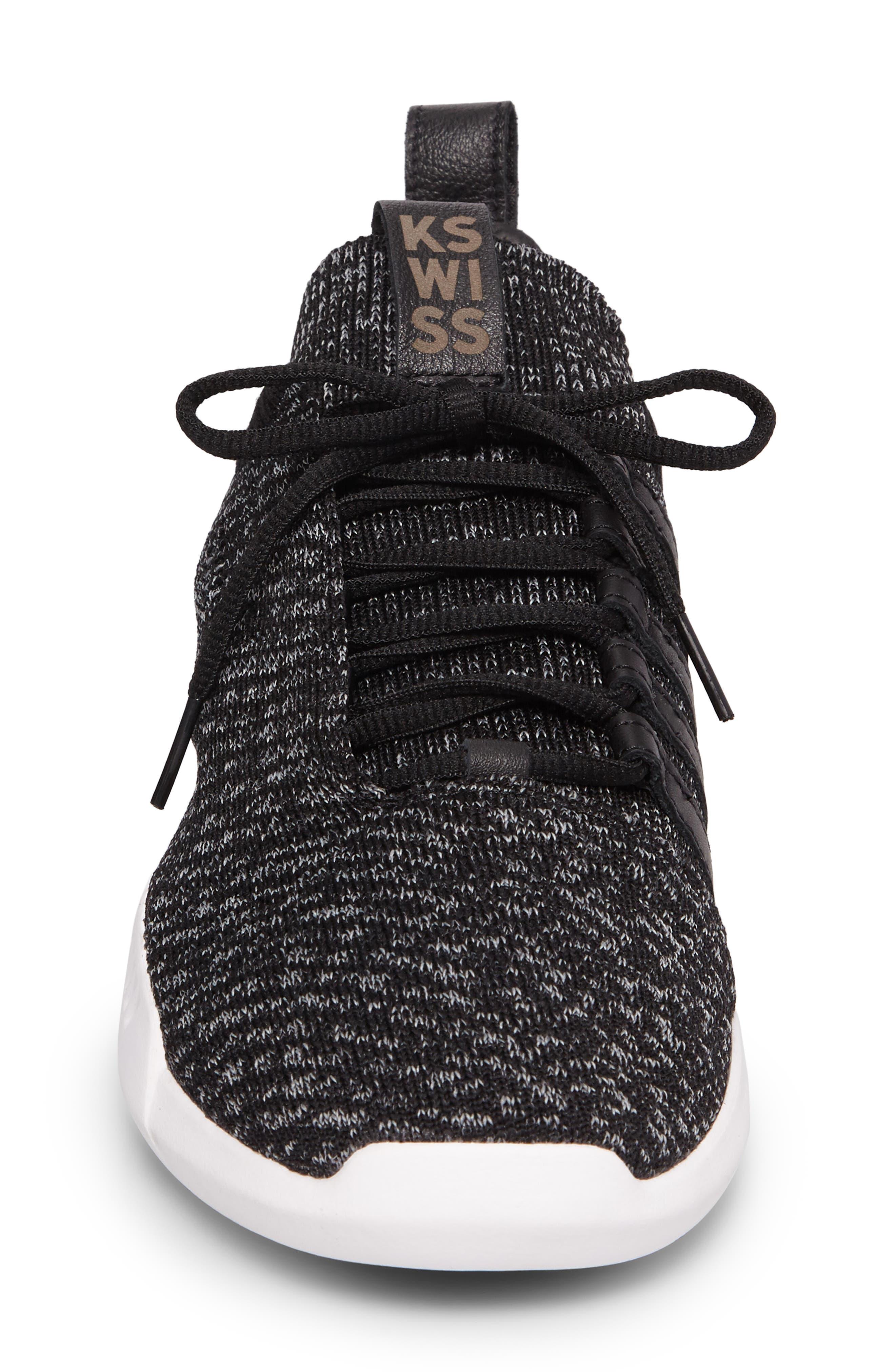 Gen-K Icon Knit Sneaker,                             Alternate thumbnail 4, color,                             Black/ Grey Heather