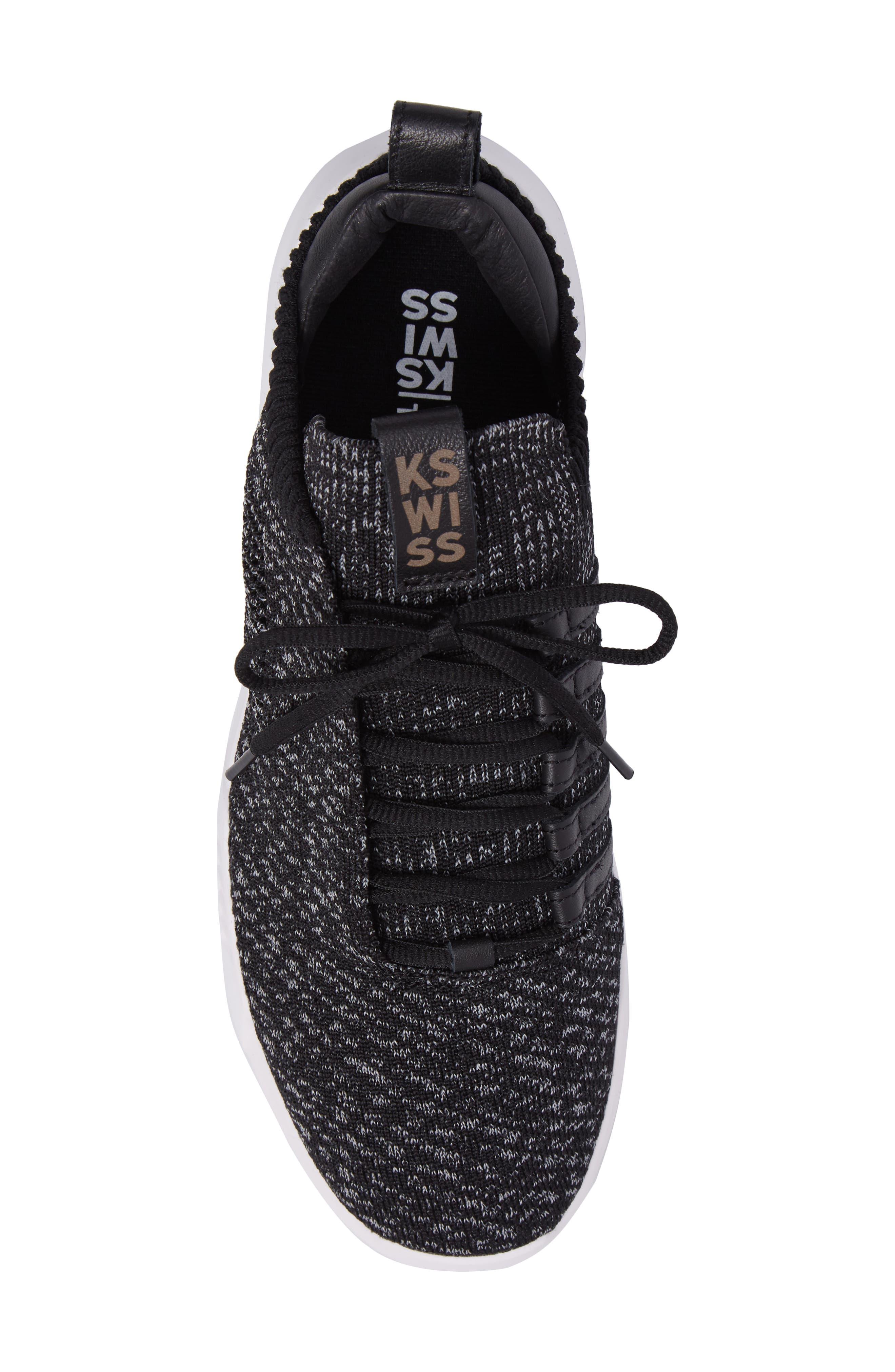Gen-K Icon Knit Sneaker,                             Alternate thumbnail 5, color,                             Black/ Grey Heather