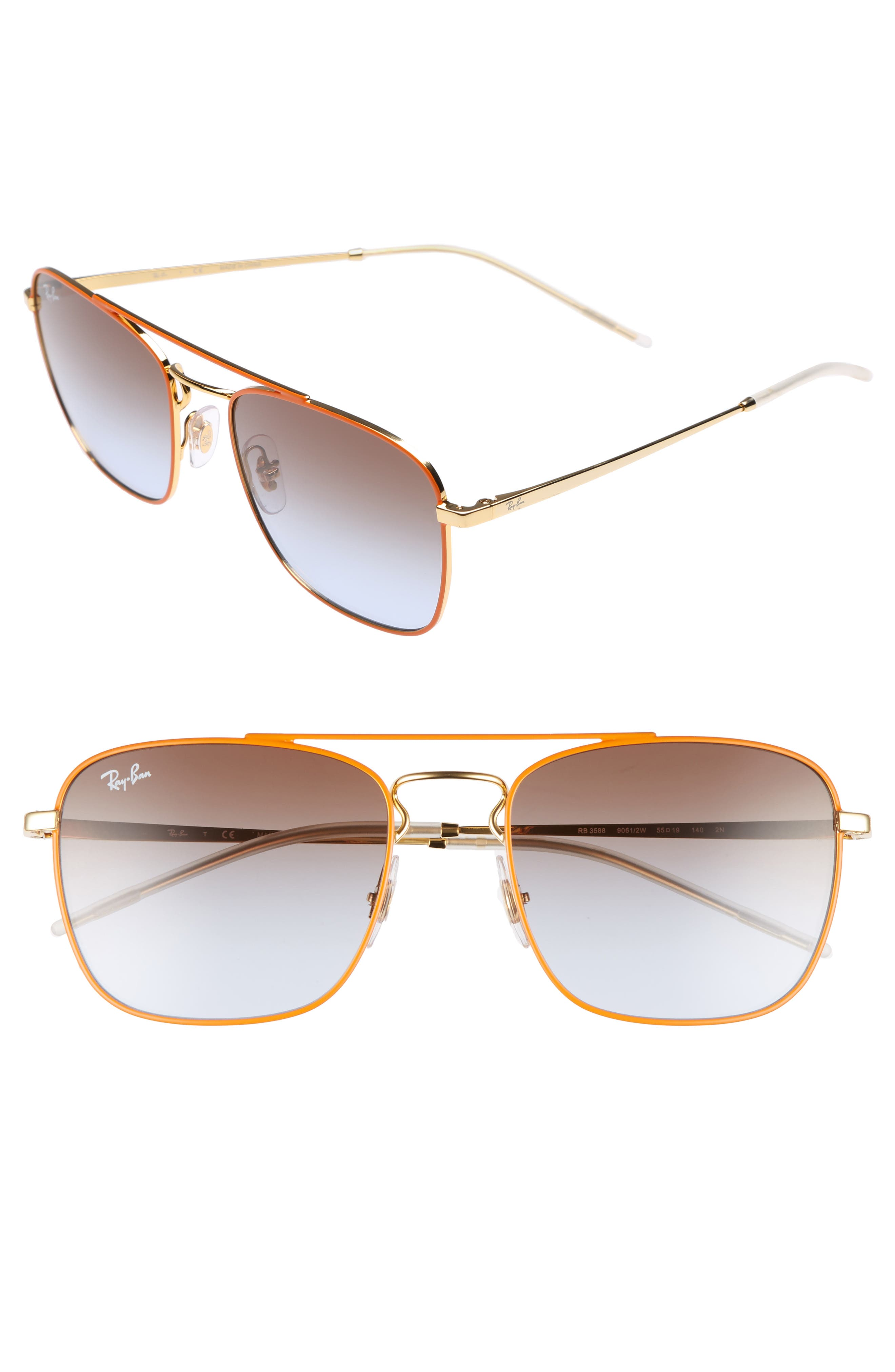 Alternate Image 1 Selected - Ray-Ban Youngster Double Bridge 55mm Sunglasses