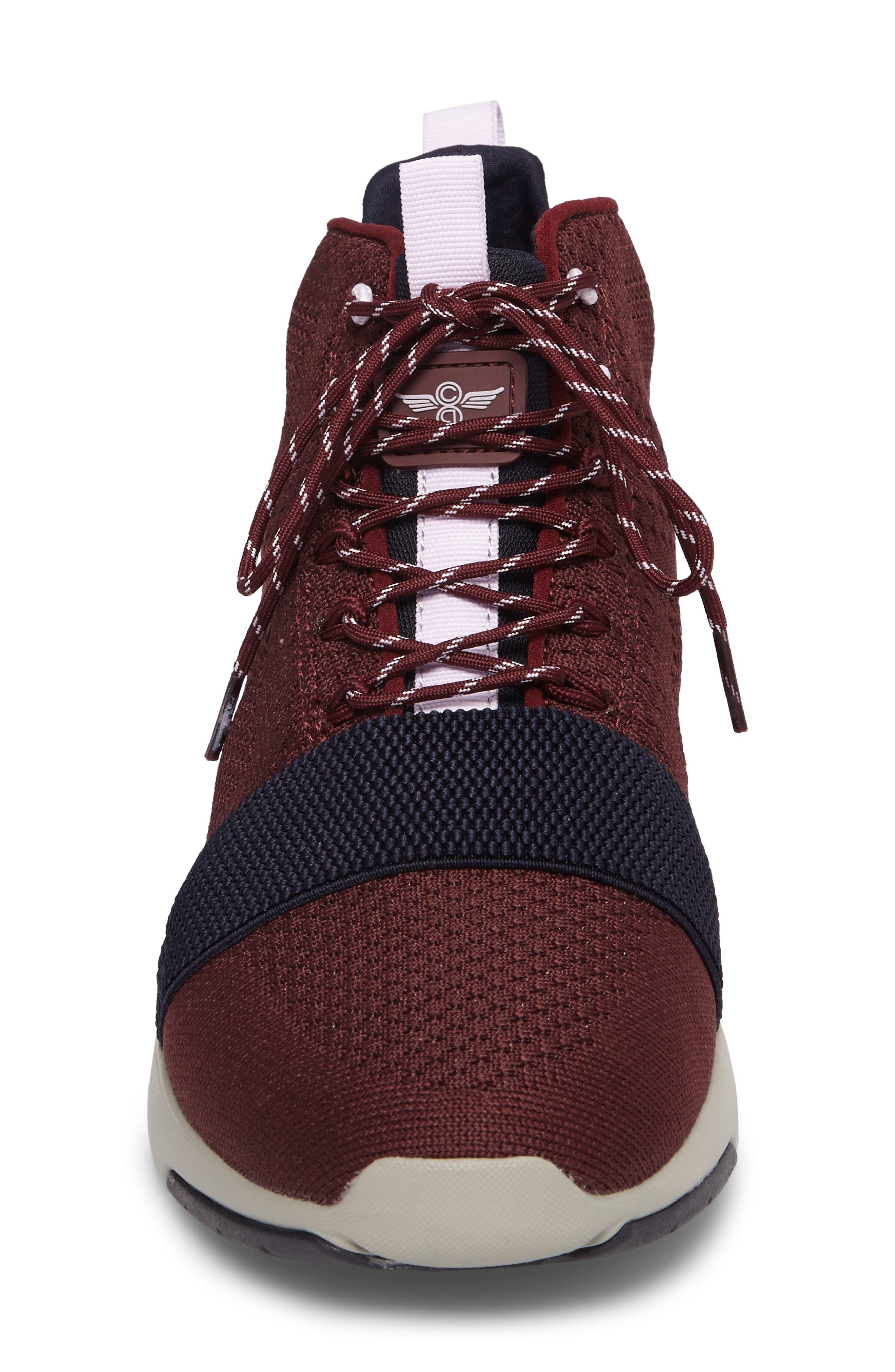 Modica Sneaker,                             Alternate thumbnail 4, color,                             Dark Burgundy Navy