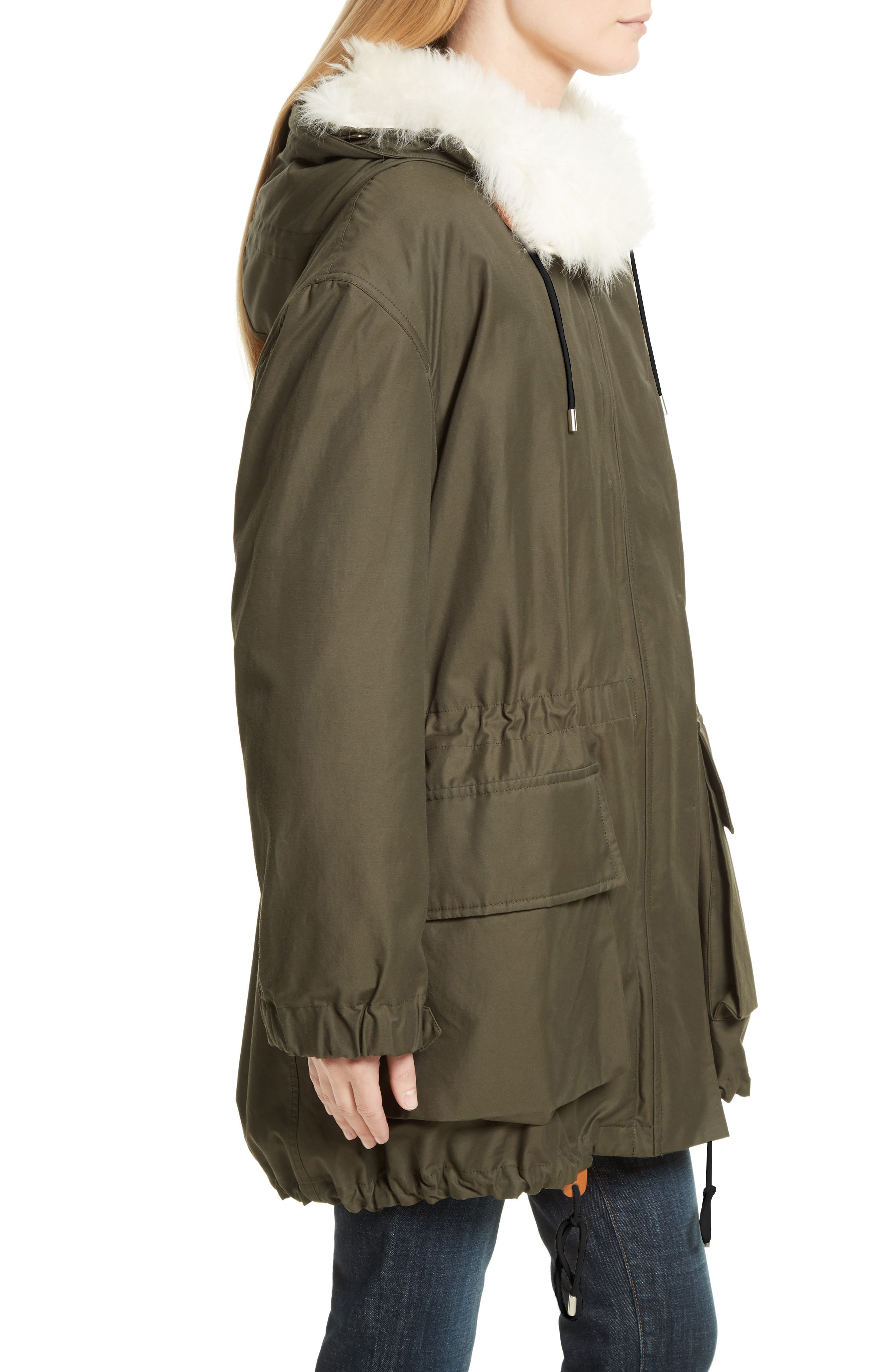 Alternate Image 3  - Theory Sharya Technical Crisp Genuine Shearling Trim Parka