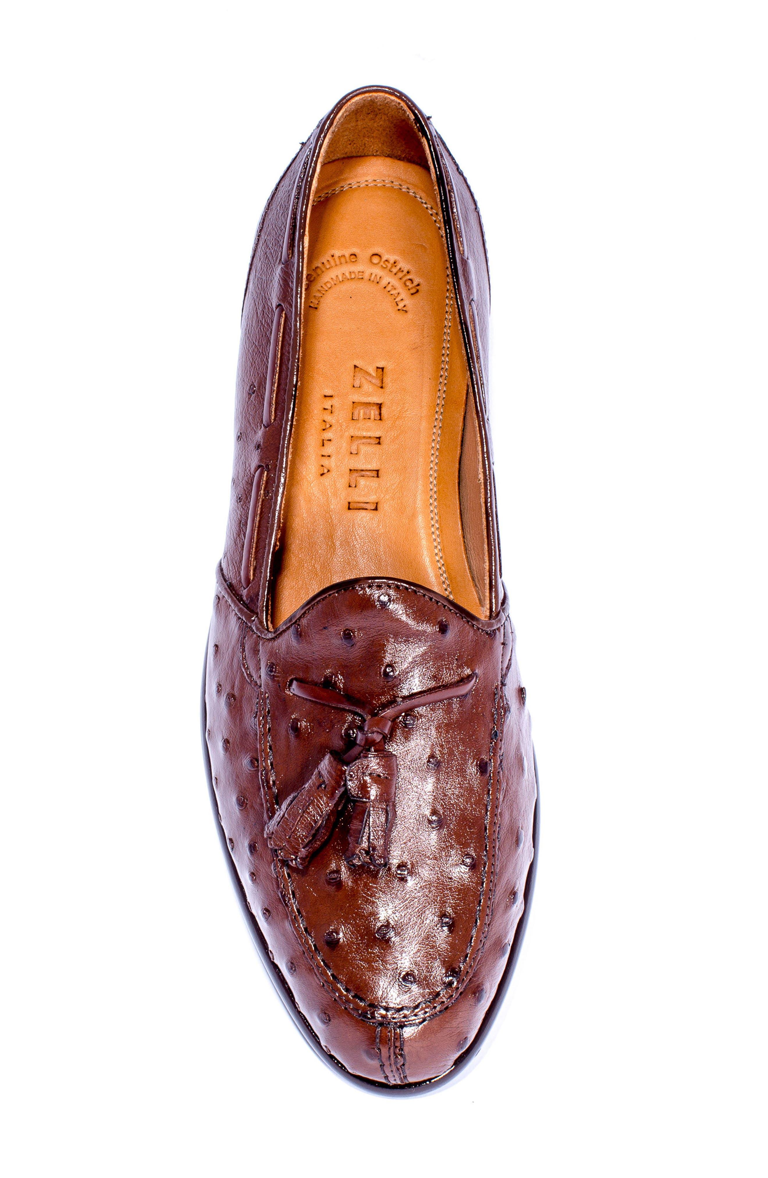 Alternate Image 5  - Zelli Franco Tassel Exotic Leather Loafer (Men)