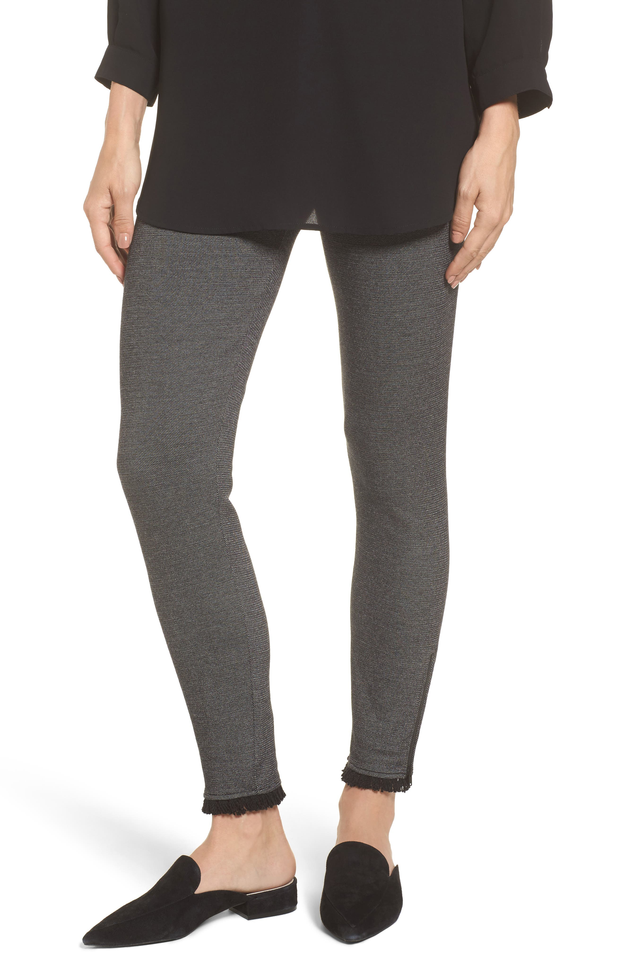 Main Image - NIC+ZOE Fringe Hem Leggings (Regular & Petite)