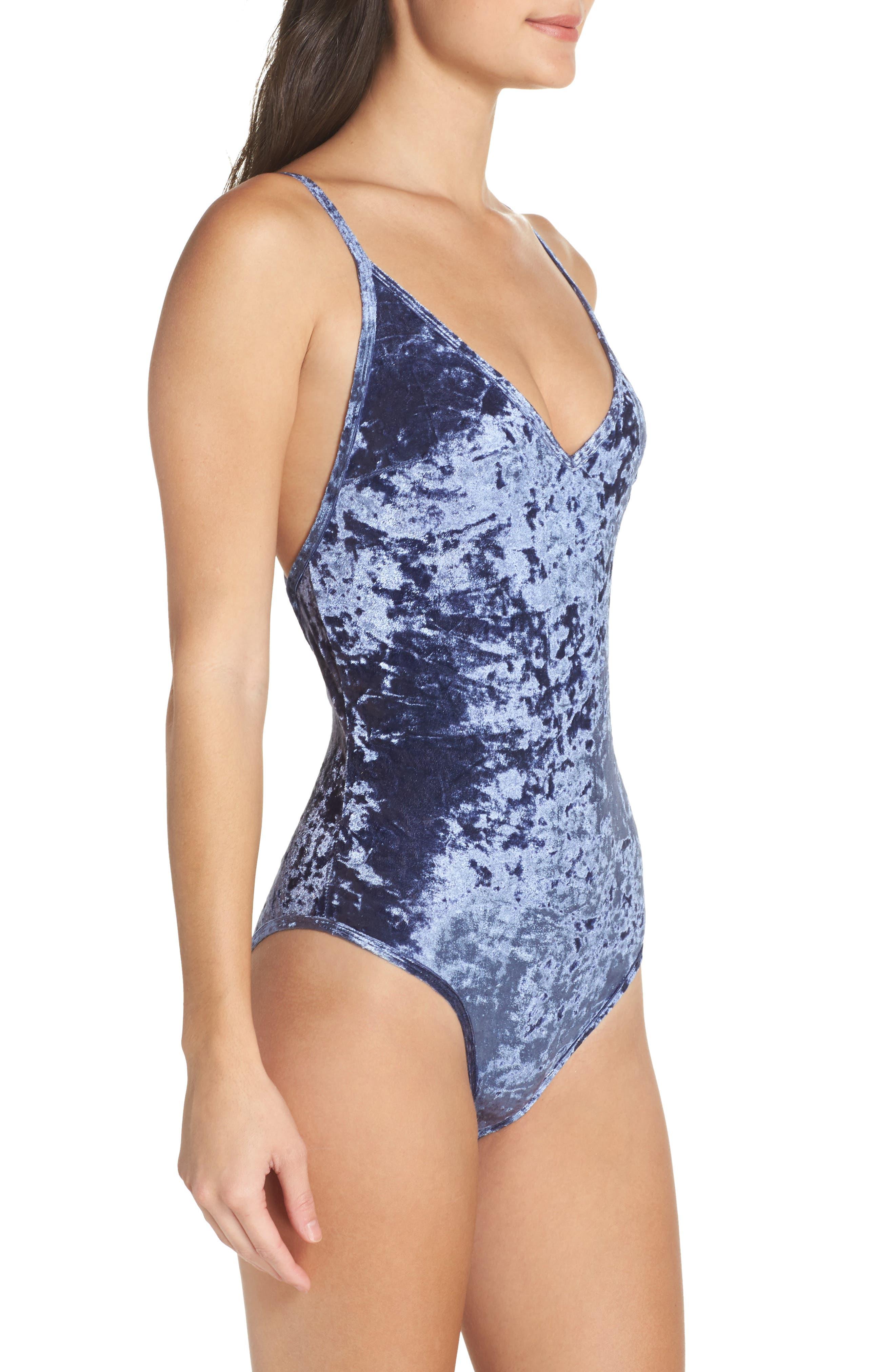 Alternate Image 3  - Sam Edelman Crushed Velvet Bodysuit