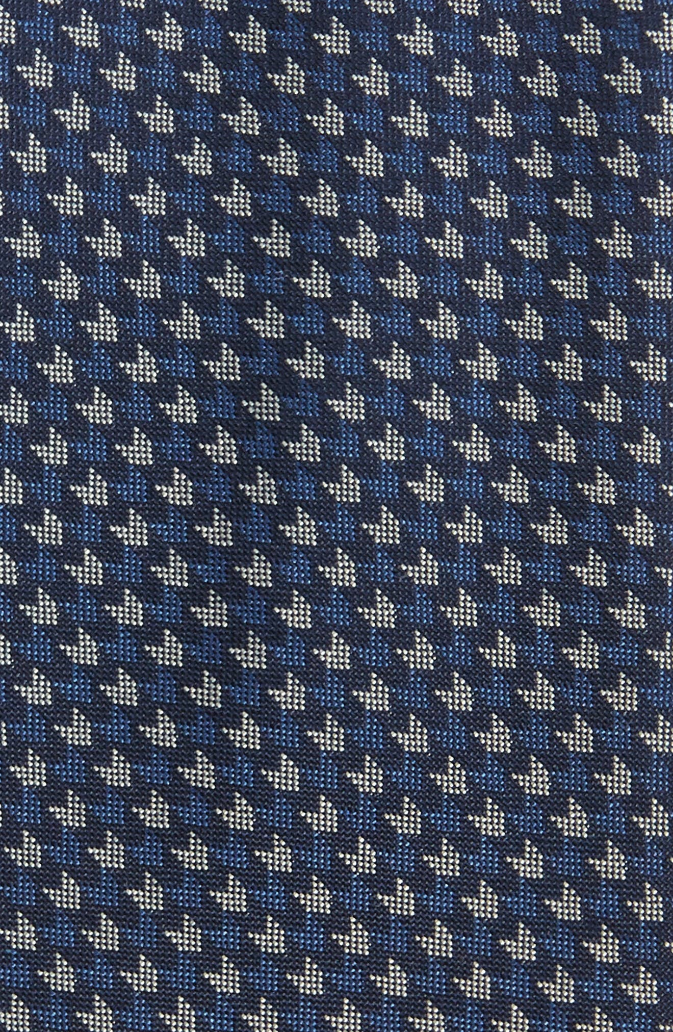 One Way Neat Silk Tie,                             Alternate thumbnail 2, color,                             Navy