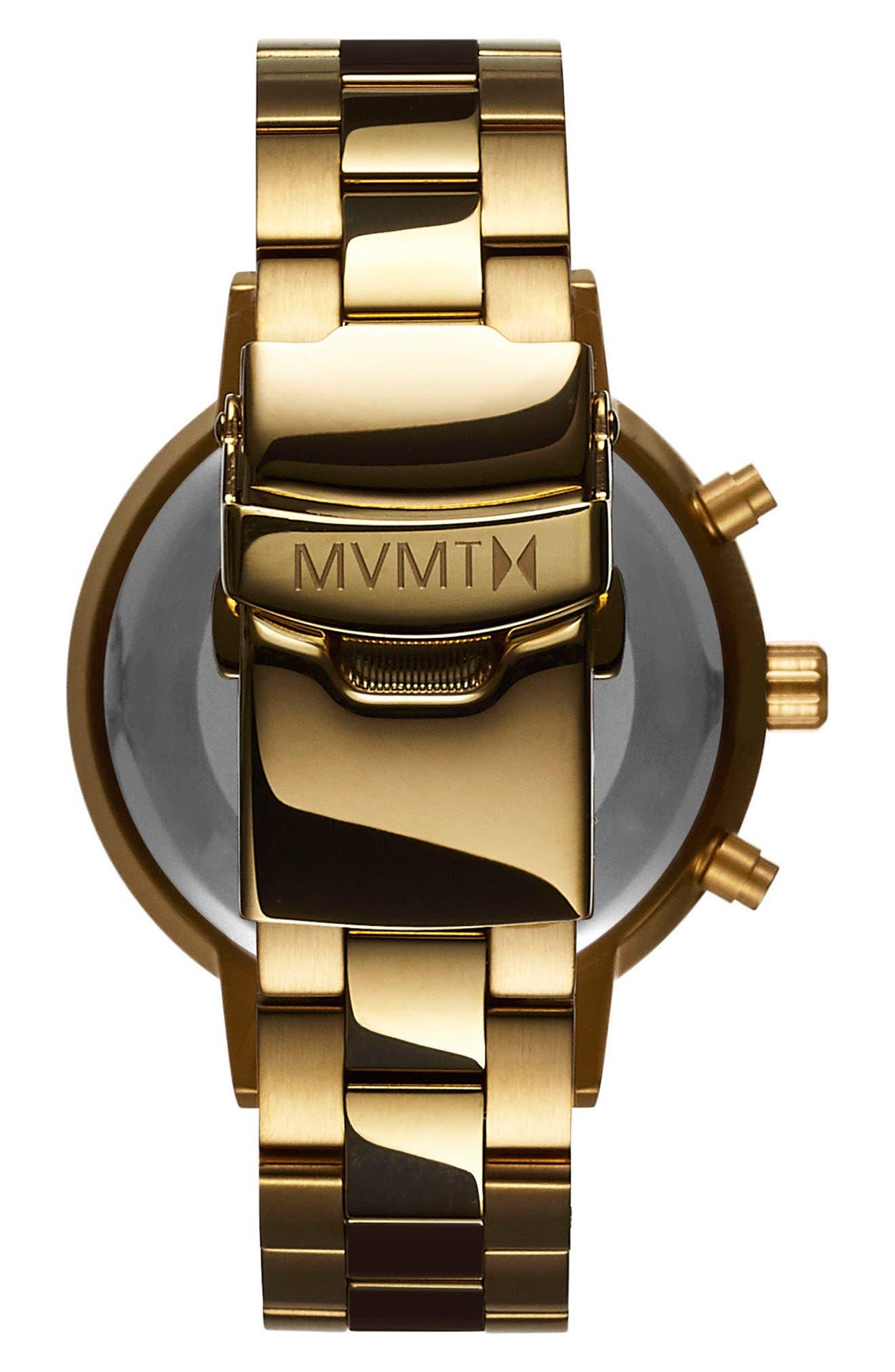 Nova Chronograph Bracelet Watch, 38mm,                             Alternate thumbnail 3, color,                             Gold/ White/ Gold