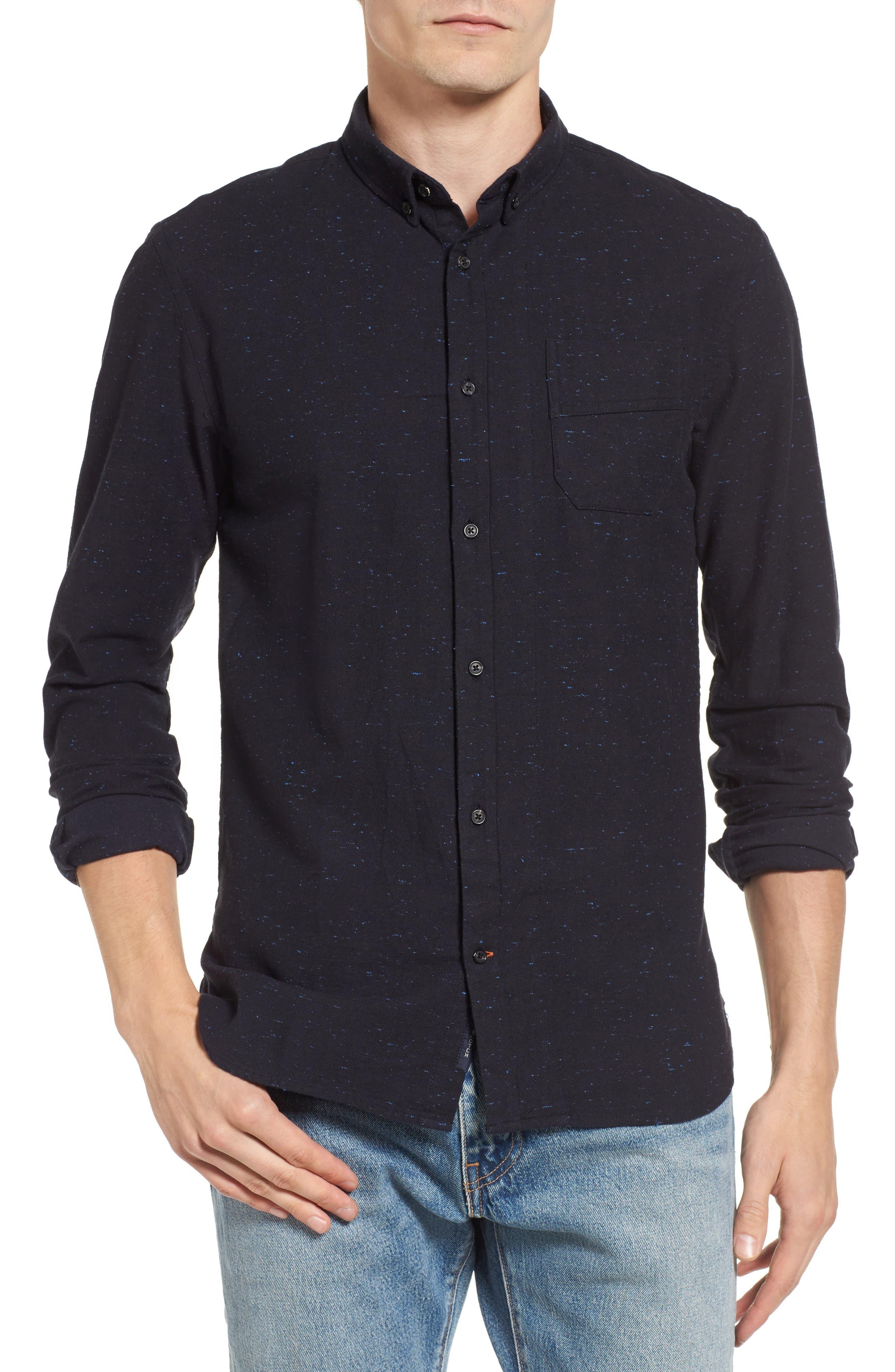 Chambray Shirt,                         Main,                         color, Midnight Melange