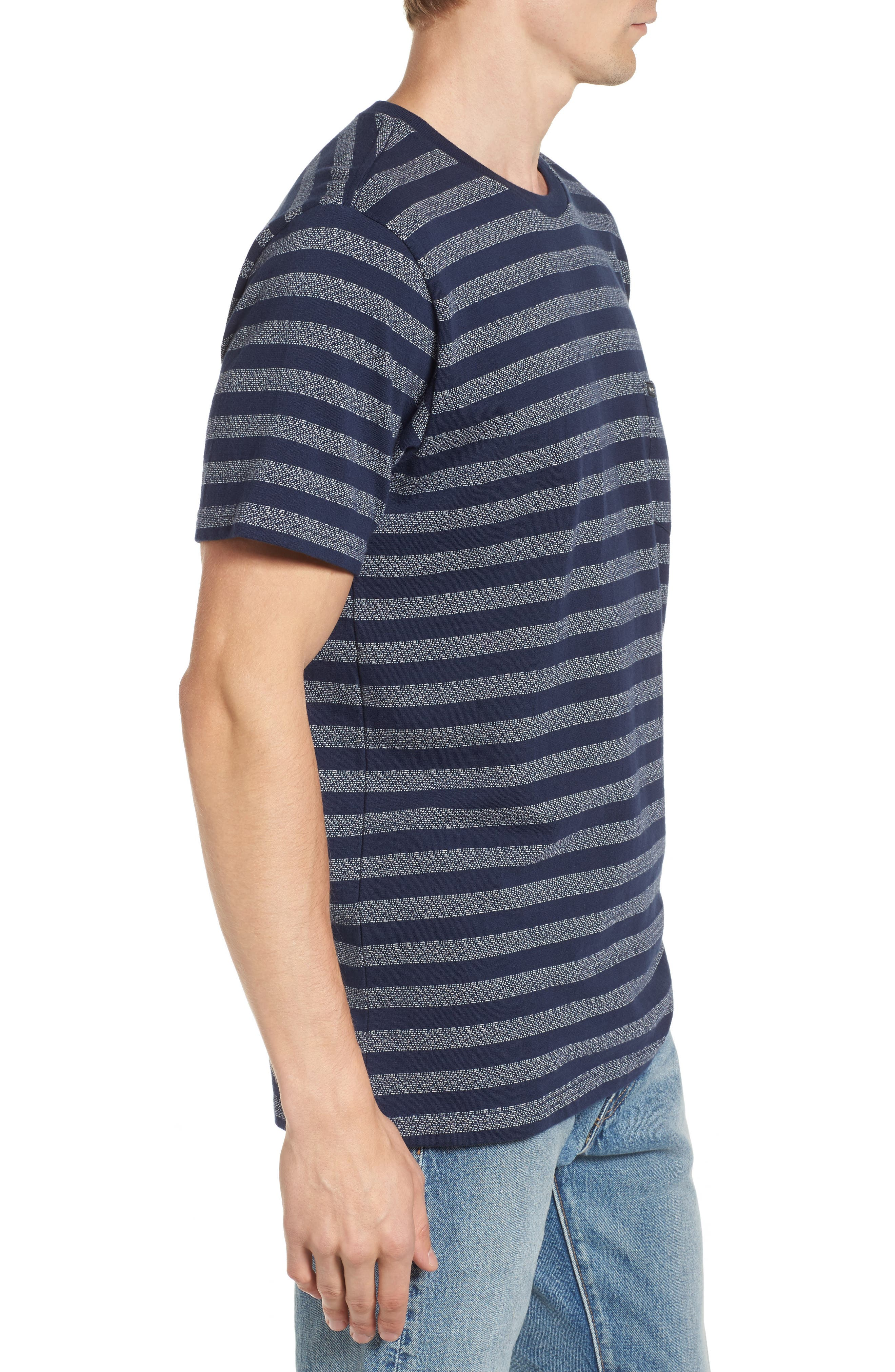 What's Shakin' Stripe T-Shirt,                             Alternate thumbnail 3, color,                             Federal Blue