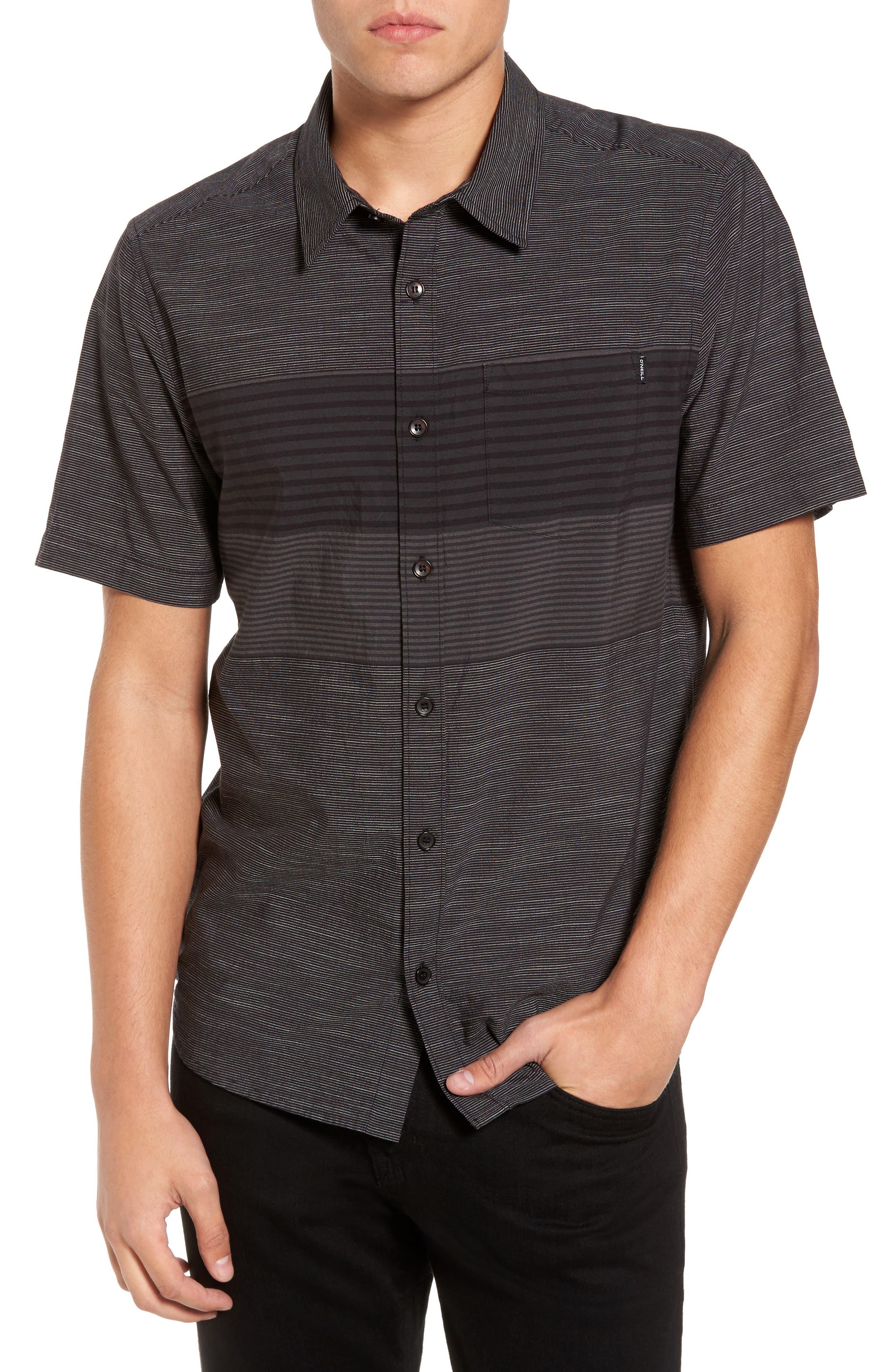 Altair Stripe Sport Shirt,                         Main,                         color, Black