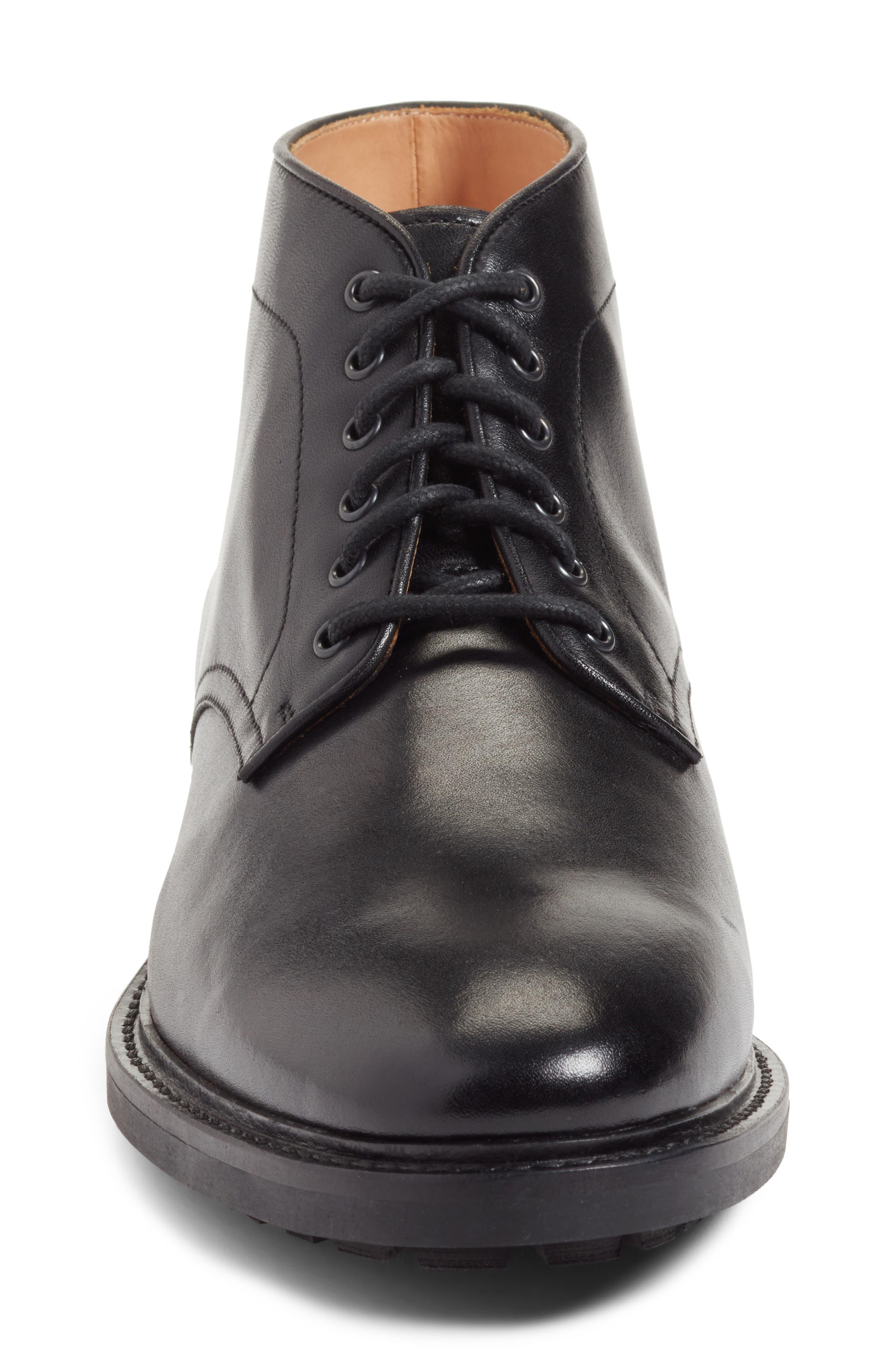 Ramiro Plain Toe Boot,                             Alternate thumbnail 4, color,                             Black Leather