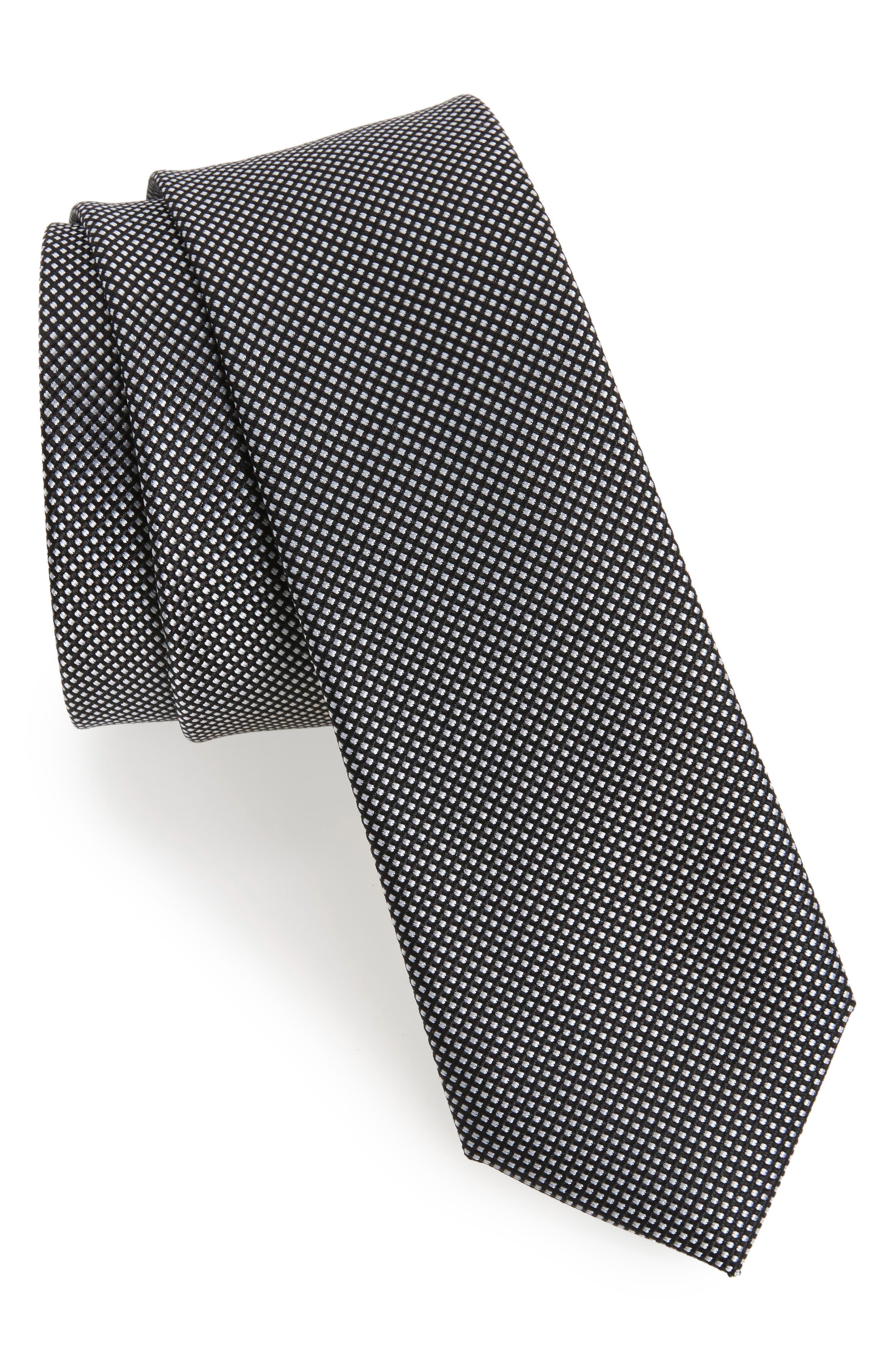 Calibrate Black & White Silk Tie
