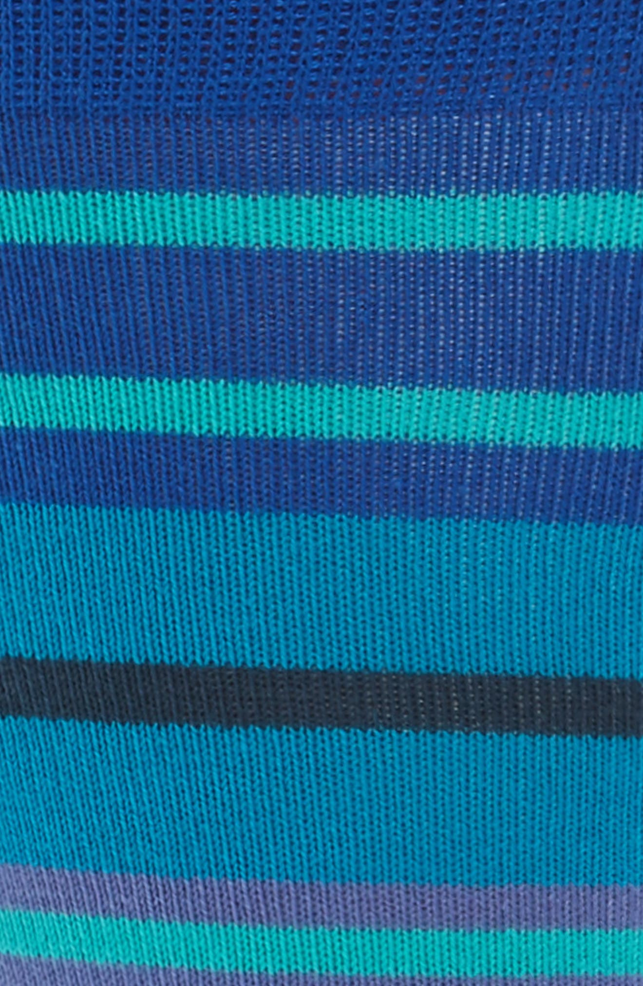 Fennel Stripe Socks,                             Alternate thumbnail 2, color,                             Blue