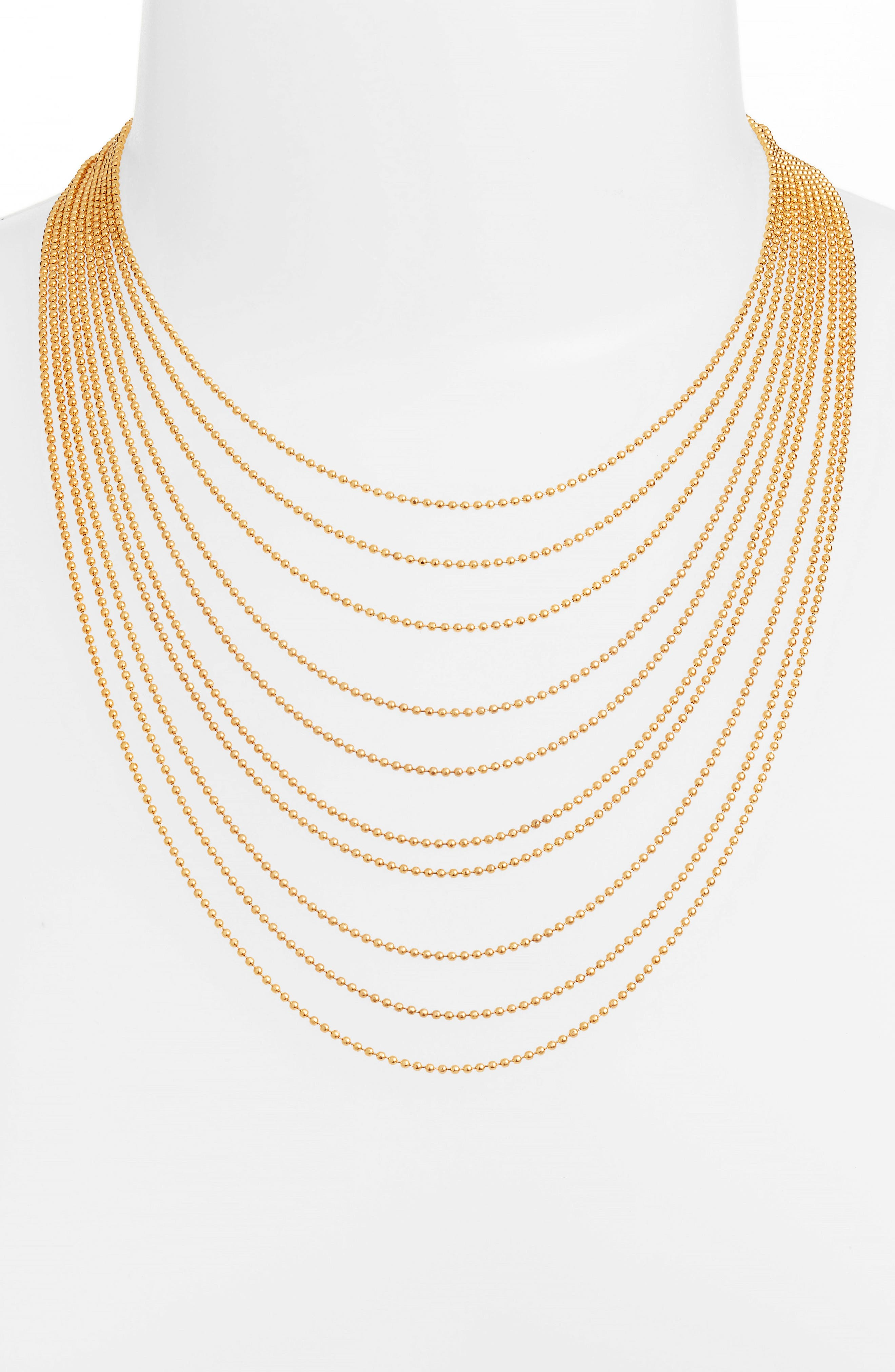 Romeo Mulistrand Necklace,                         Main,                         color, Gold