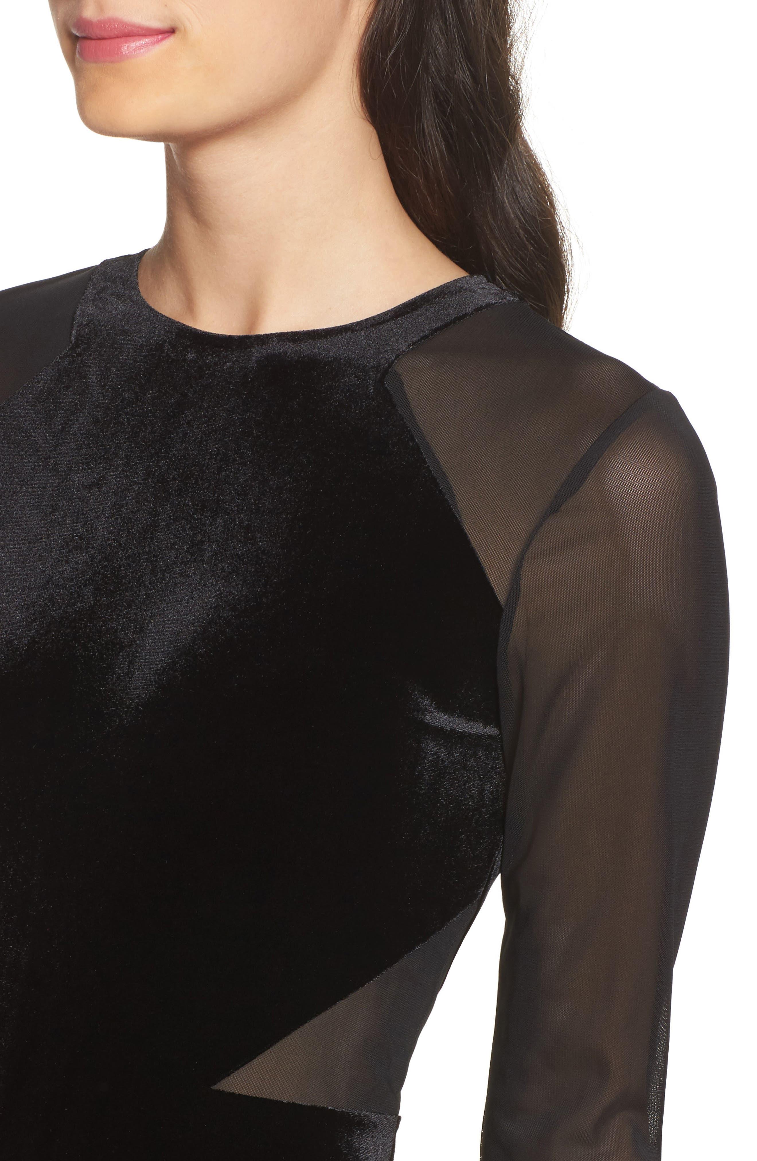 Aurore Body-Con Dress,                             Alternate thumbnail 4, color,                             Black