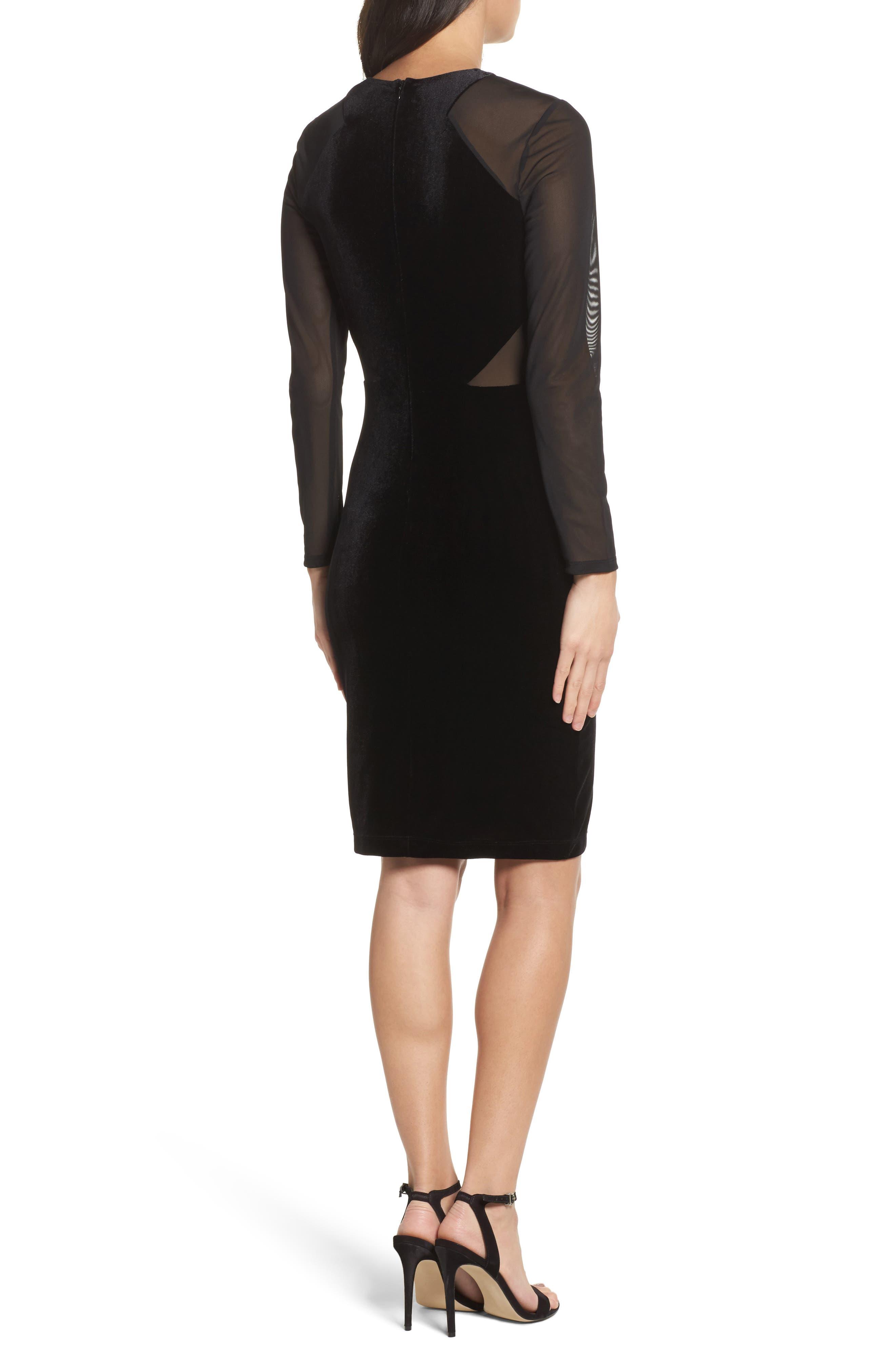 Aurore Body-Con Dress,                             Alternate thumbnail 2, color,                             Black