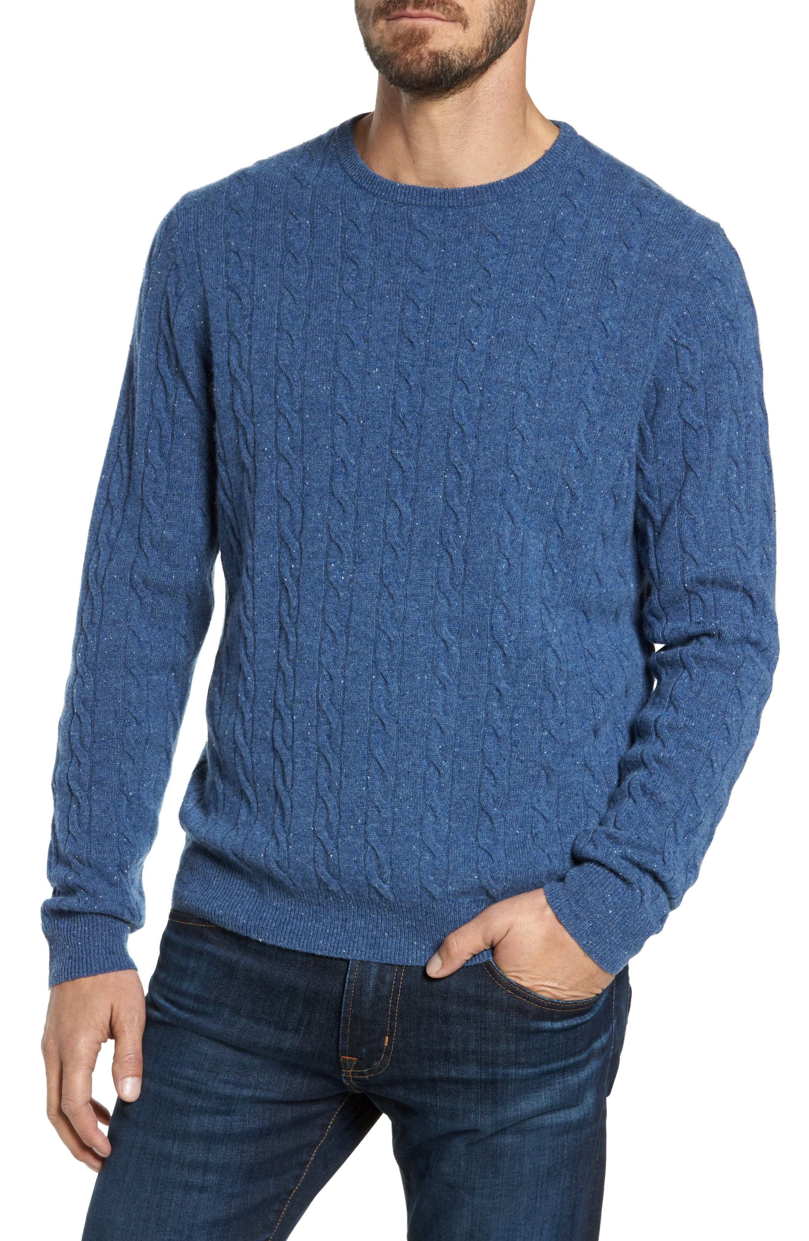 Nordstrom Men's Shop Cashmere Cable Knit Sweater