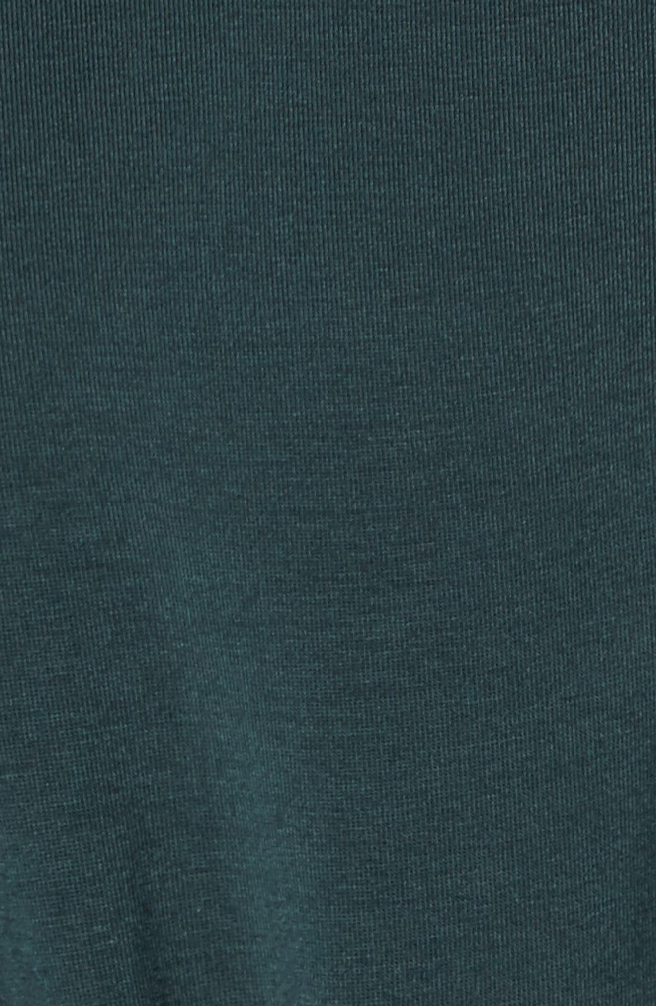 Imogen Tie Front Tee,                             Alternate thumbnail 5, color,                             Darkest Spruce