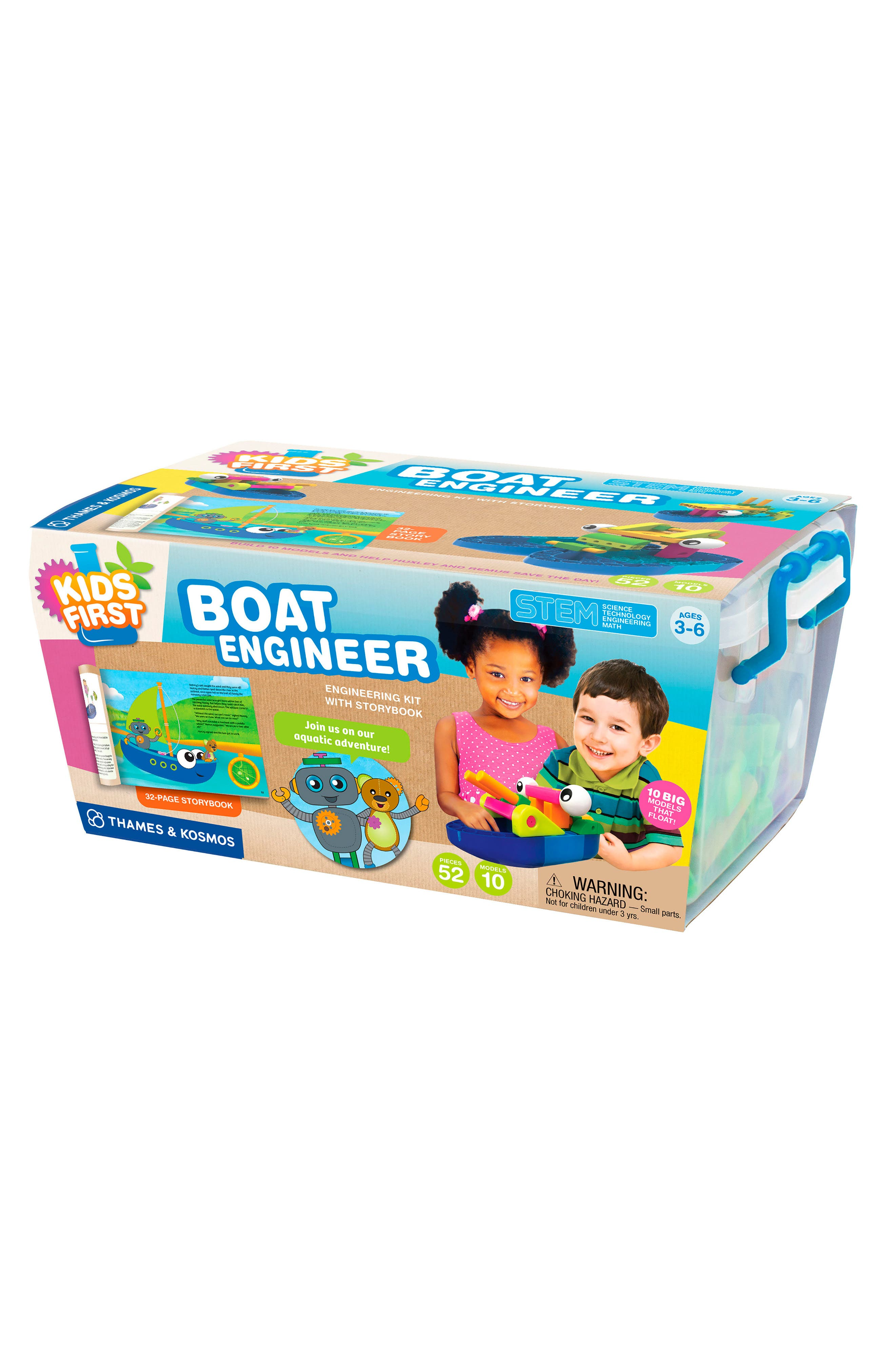 Boat Engineer Kit with Storybook,                         Main,                         color, Multi