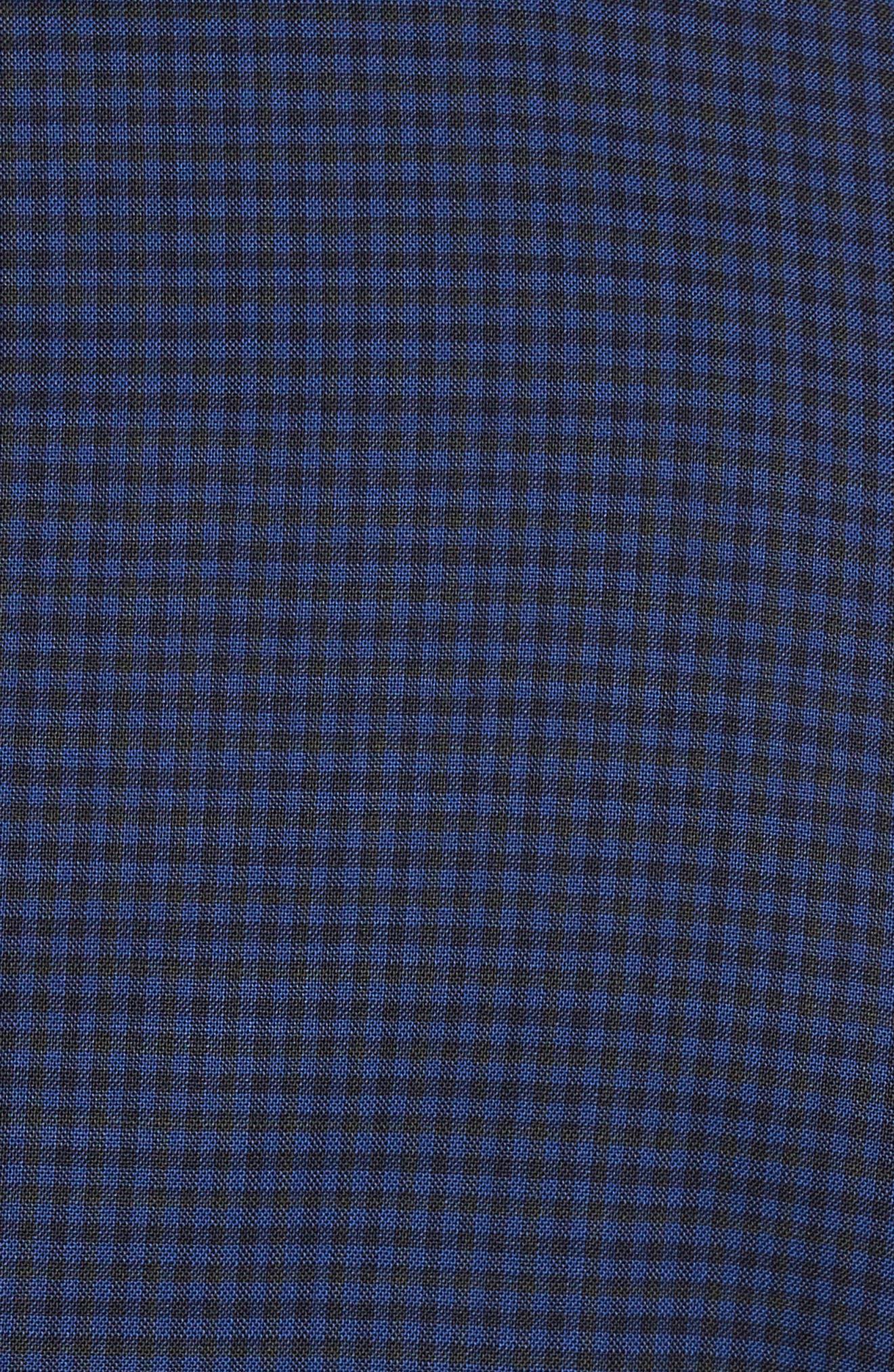 Novan/Ben Trim Fit Check Wool Suit,                             Alternate thumbnail 7, color,                             Dark Blue