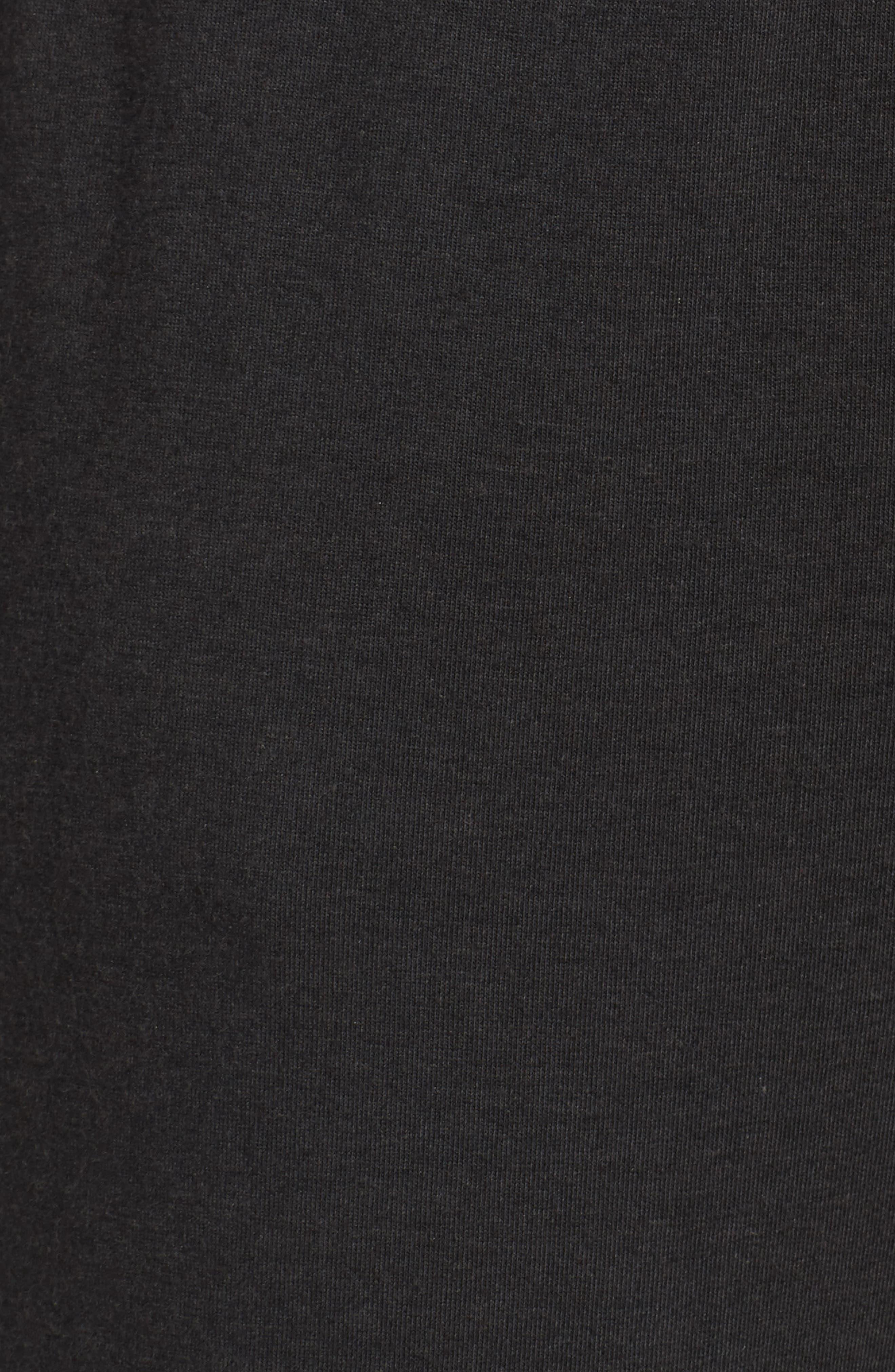 Alice Lounge Pants,                             Alternate thumbnail 6, color,                             Plain Black Marle